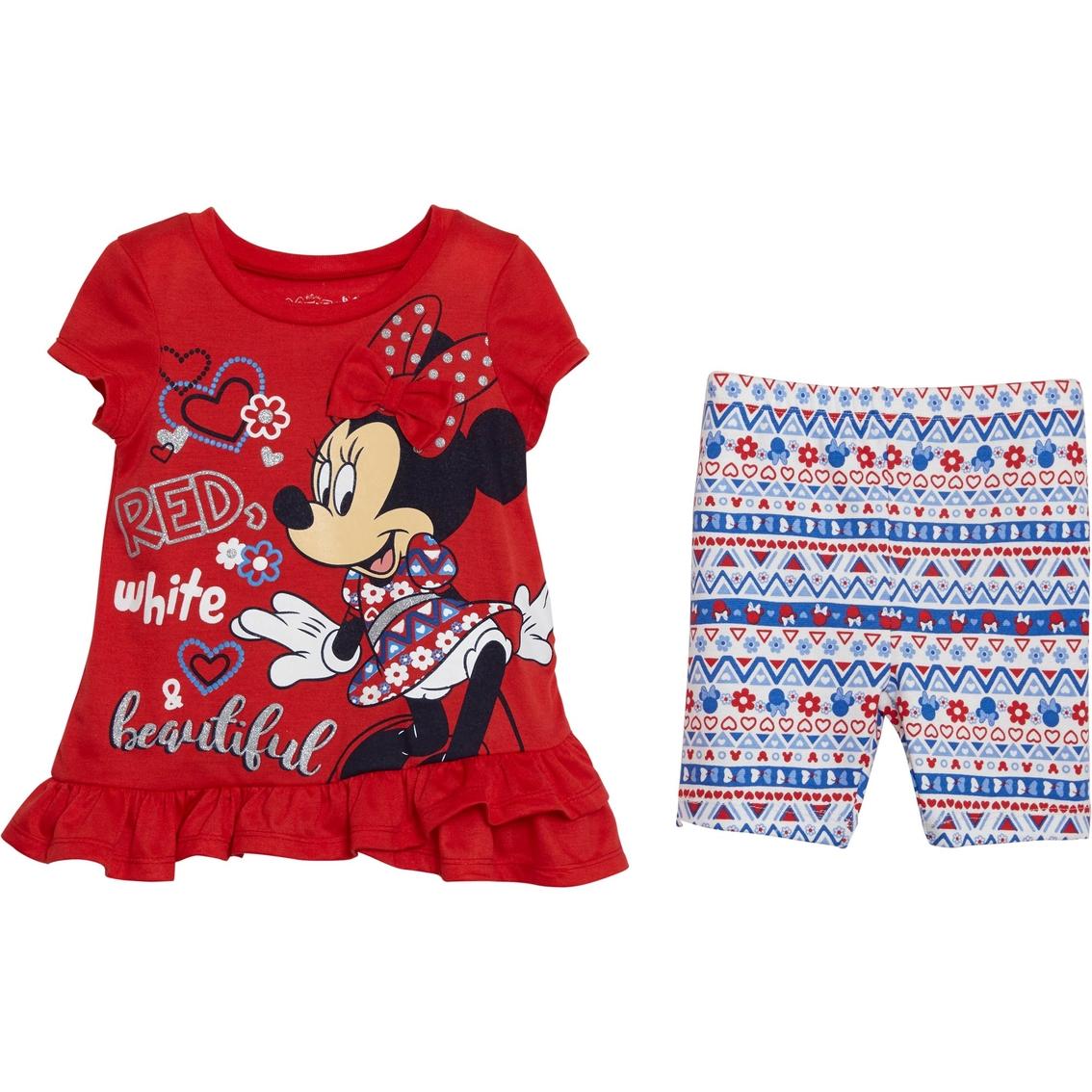 24f18f06b6 Disney Infant Girls Minnie Mouse Bike Shorts Set