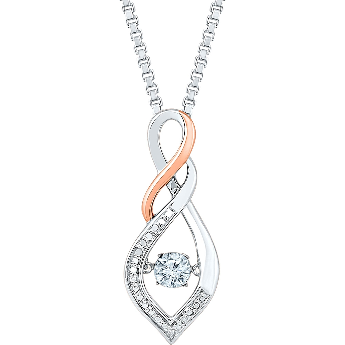 Sterling silver 10k rose gold diamond accent pendant diamond sterling silver 10k rose gold diamond accent pendant audiocablefo