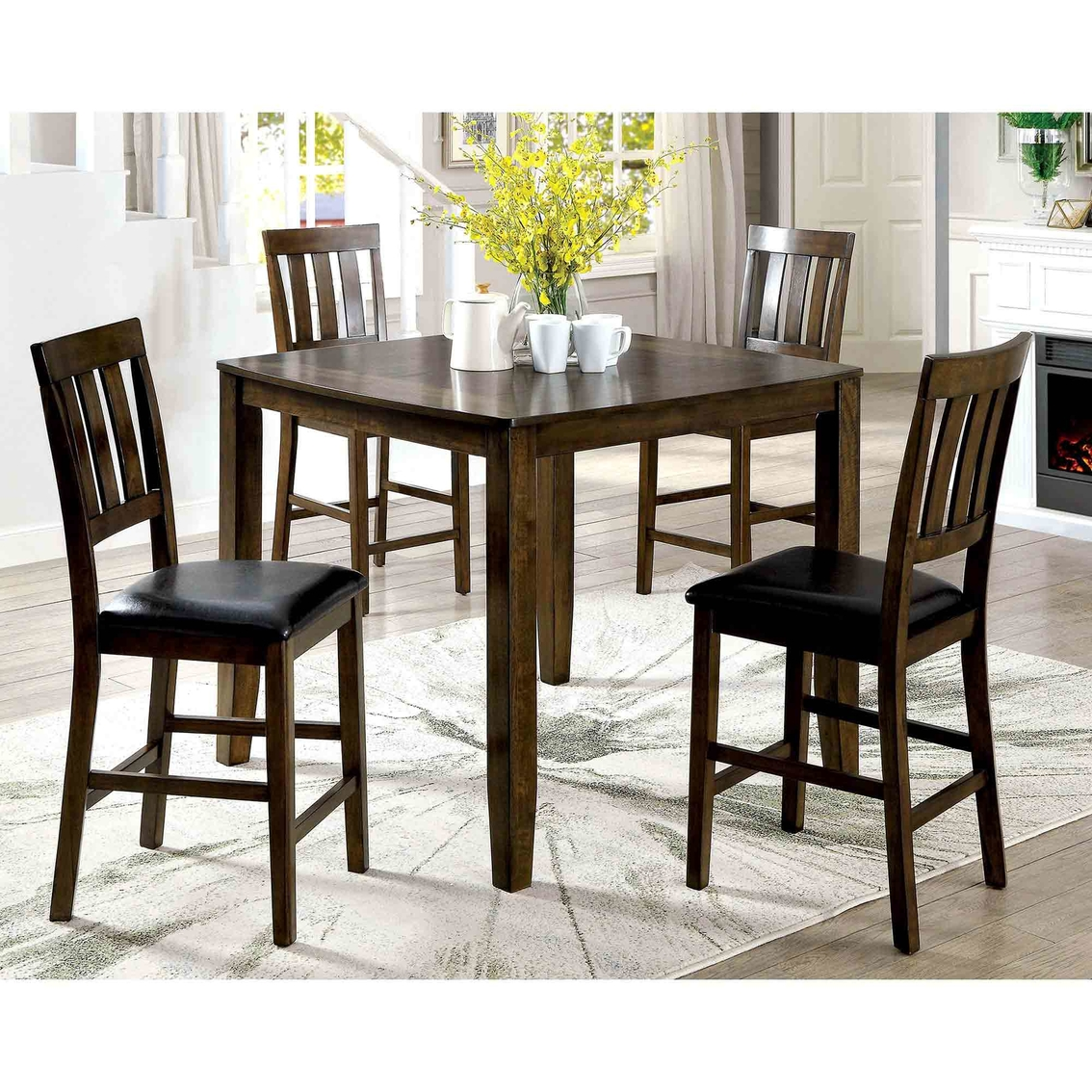 Room Store Chandler: Furniture Of America Chandler 5 Pc. Pub Dining Set