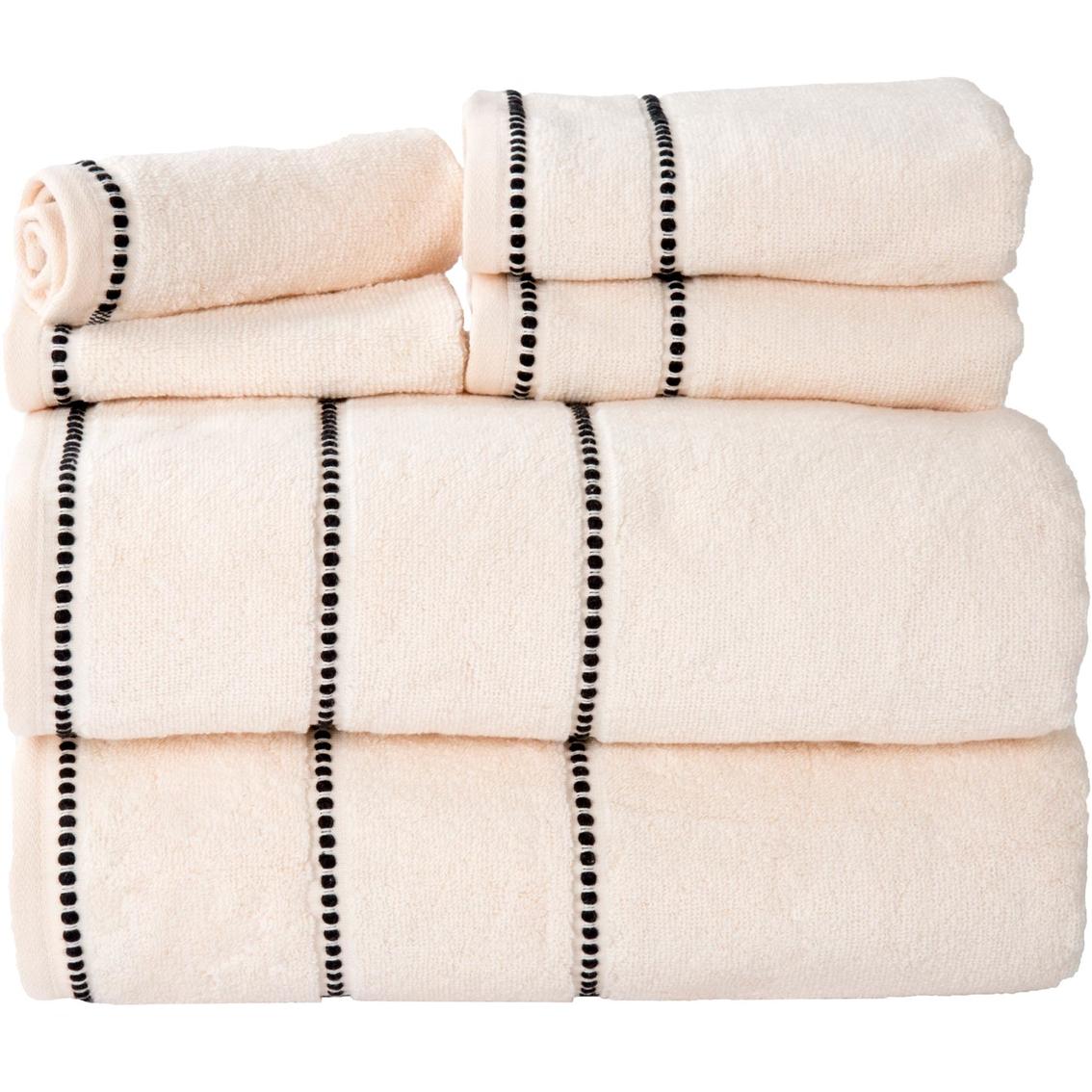 Lavish Home Quick Dry 100 Cotton Zero Twist 6 Pc Towel Set Bath Towels Household Shop The Exchange