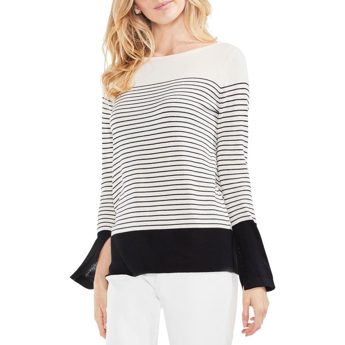Vince Camuto Slit Cuff Colorblock Stripe Sweater