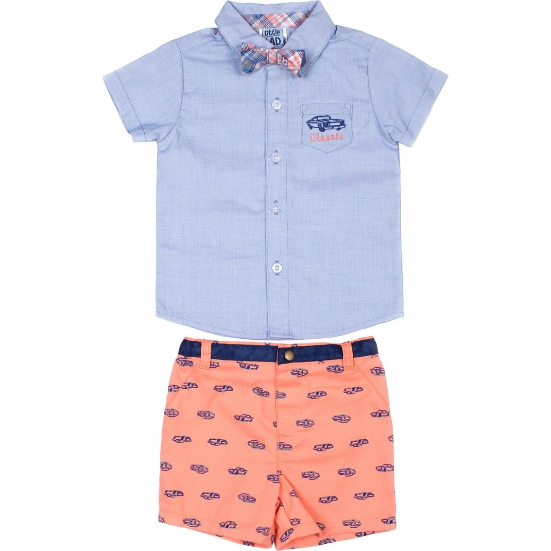 c96b616f0 Little Lads Infant Boys Chambray Shirt   Printed Shorts