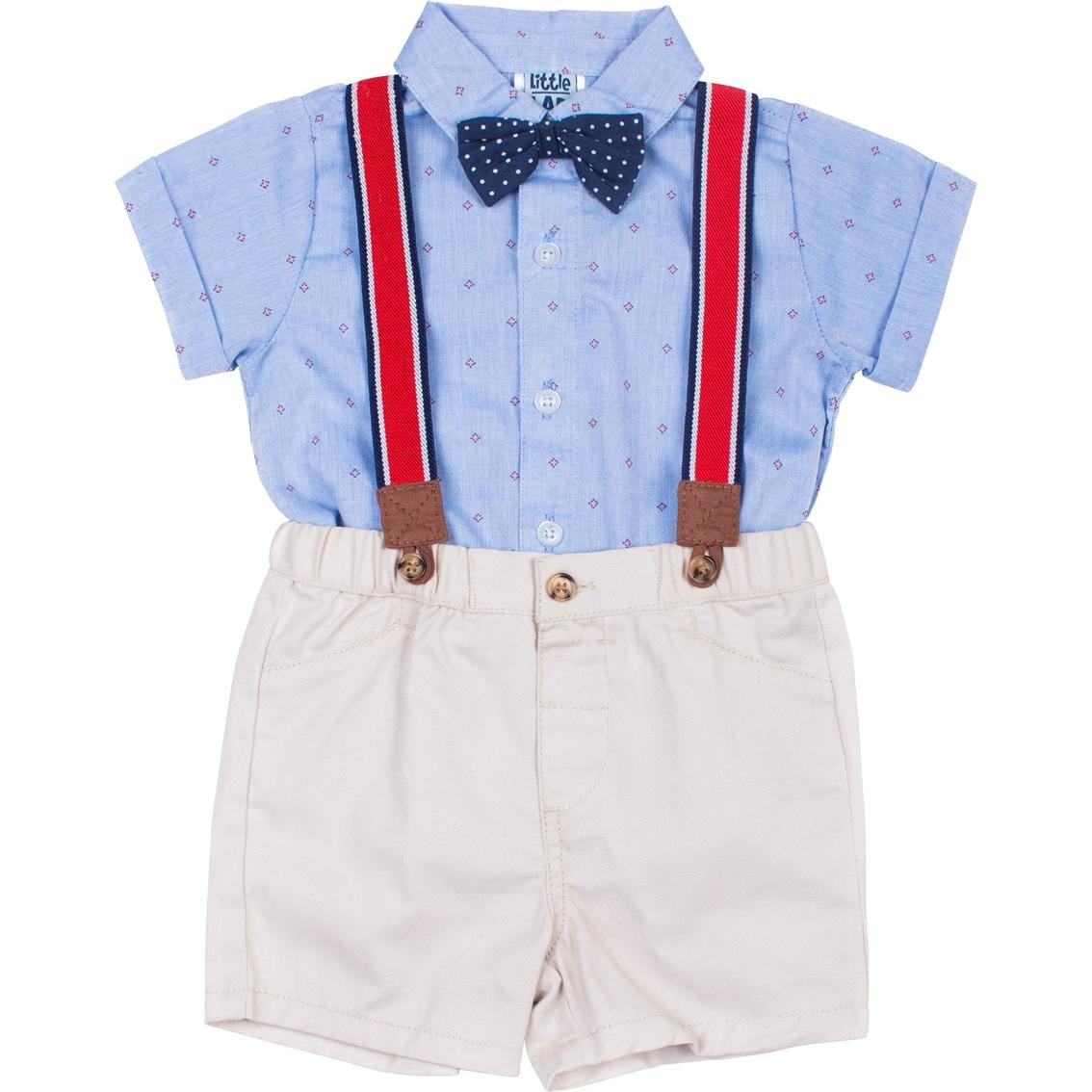 Trousers Braces /& Bow Tie 0-24 M LITTLE GENTS Baby Boy 4 Piece Outfit Set Shirt