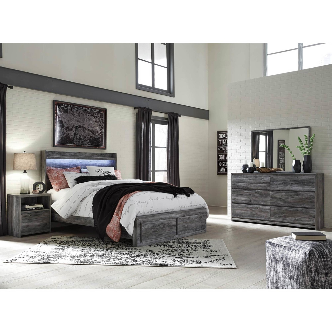 Signature Design By Ashley Baystorm 2 Drawer Storage Bed 4 Pc Set