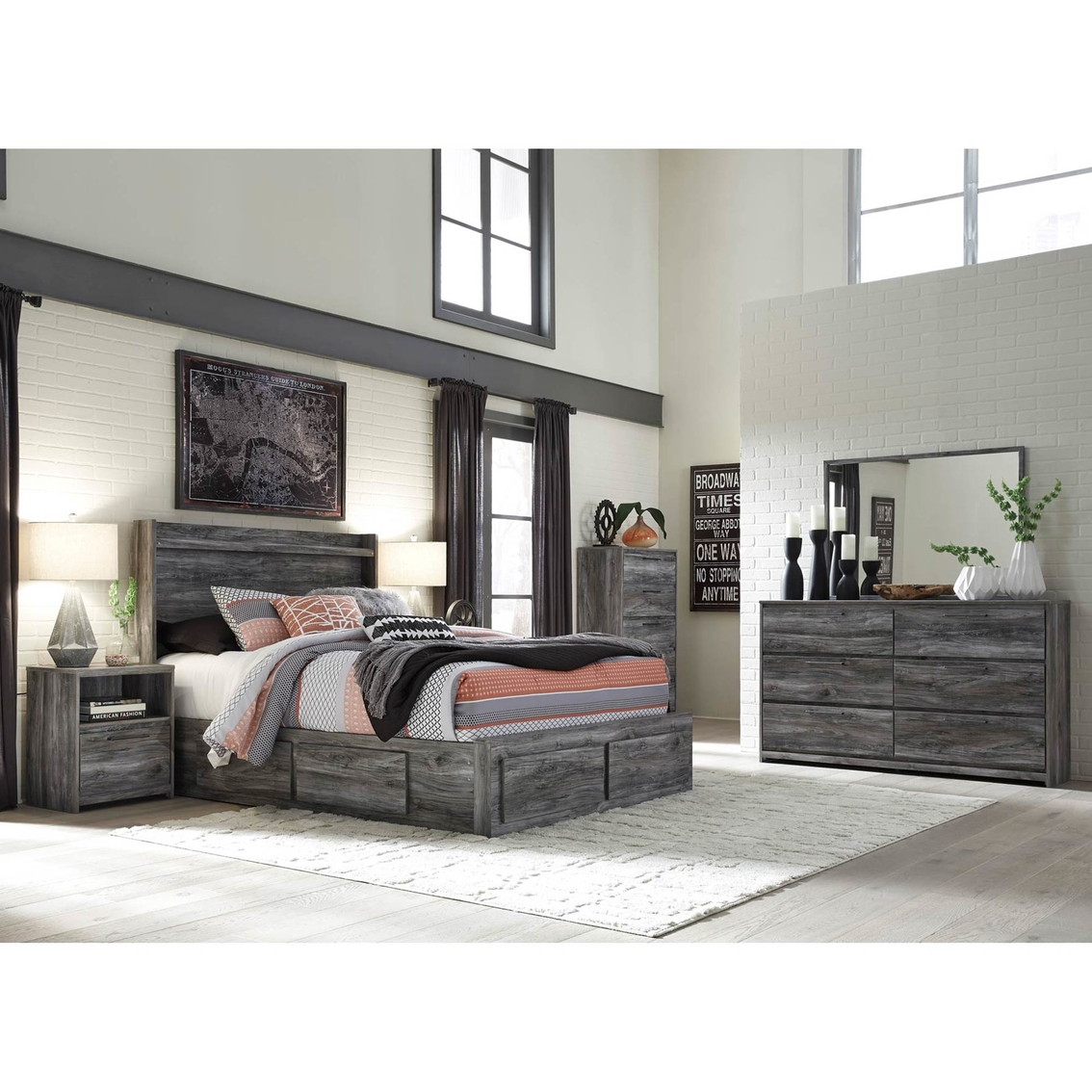 Signature Design By Ashley Baystorm 6 Drawer Storage Bed 5 Pc. Set ...