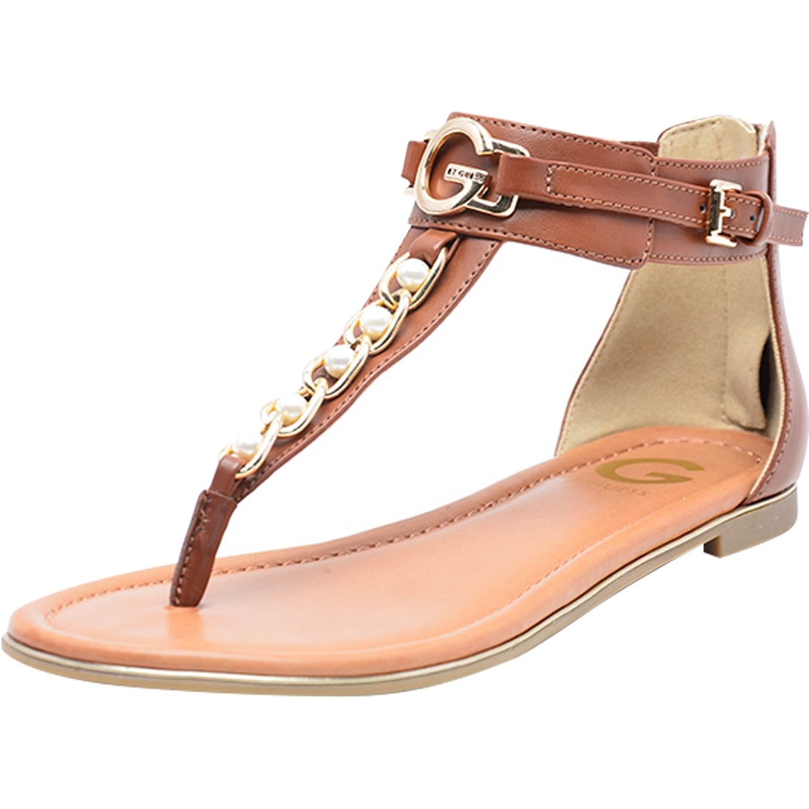 2c67722fae5 G By Guess Direck Pearl Ornament Flat Thong Sandals