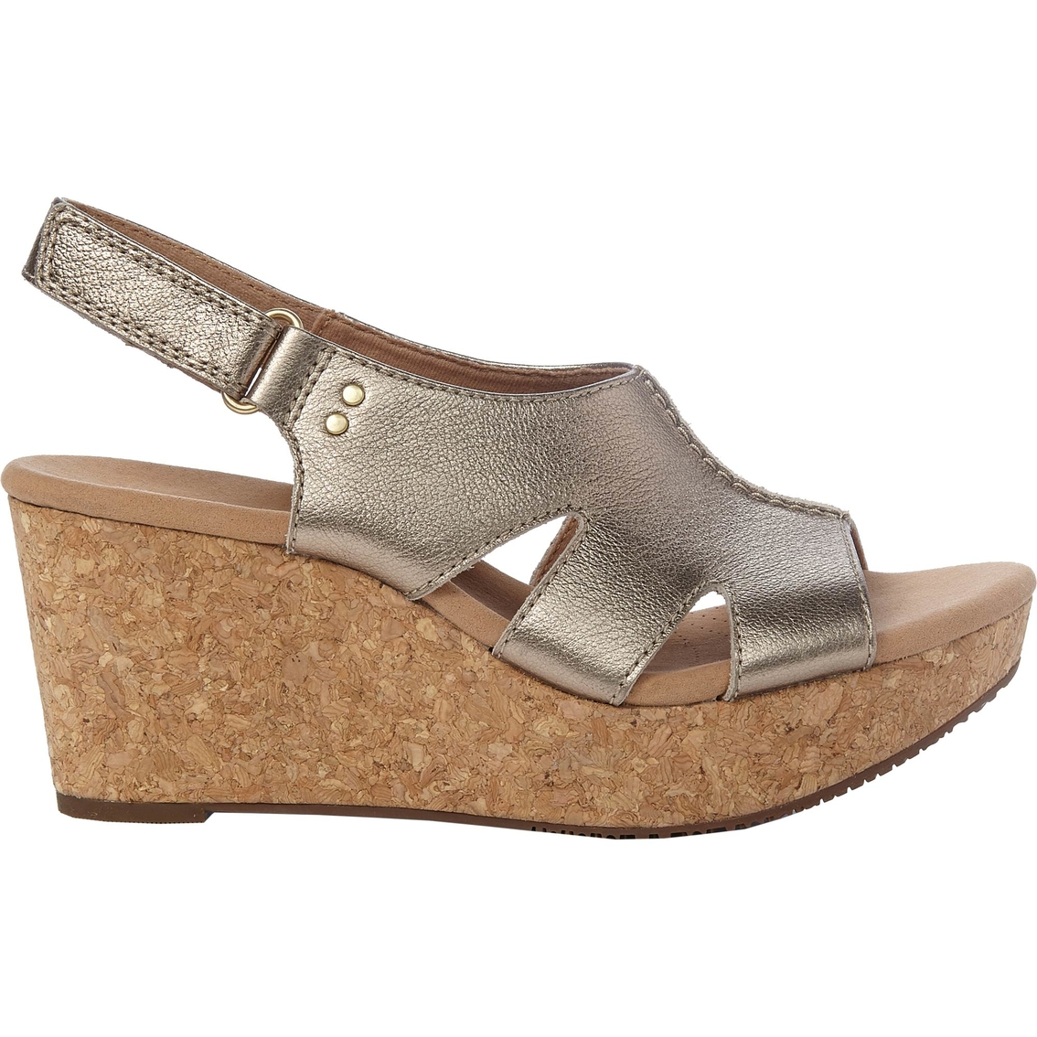 5649c751884 Clarks Annadel Bari Cork Wedge Sandals