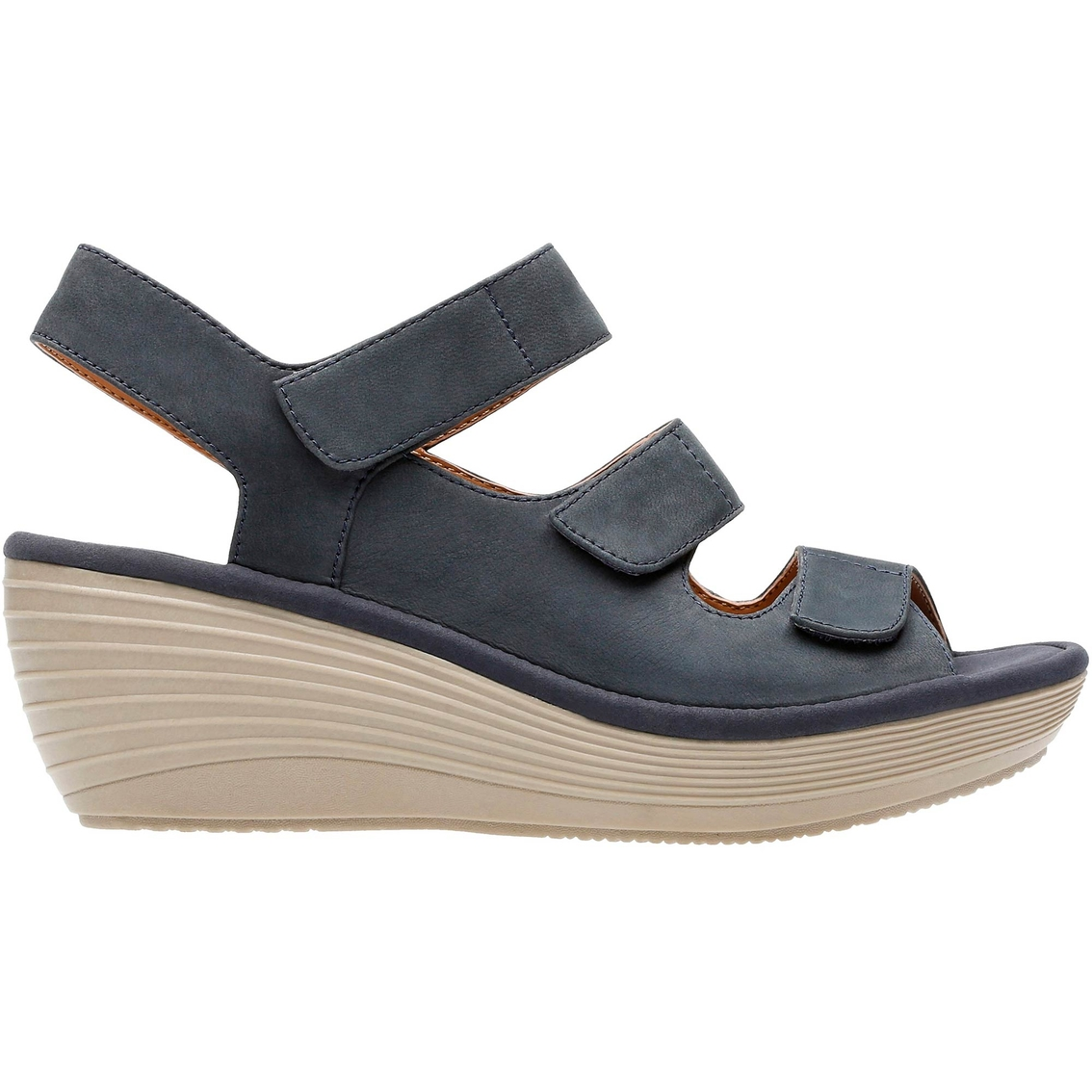 567fc7d0032b Clarks Reedly Juno Wedge Sandals