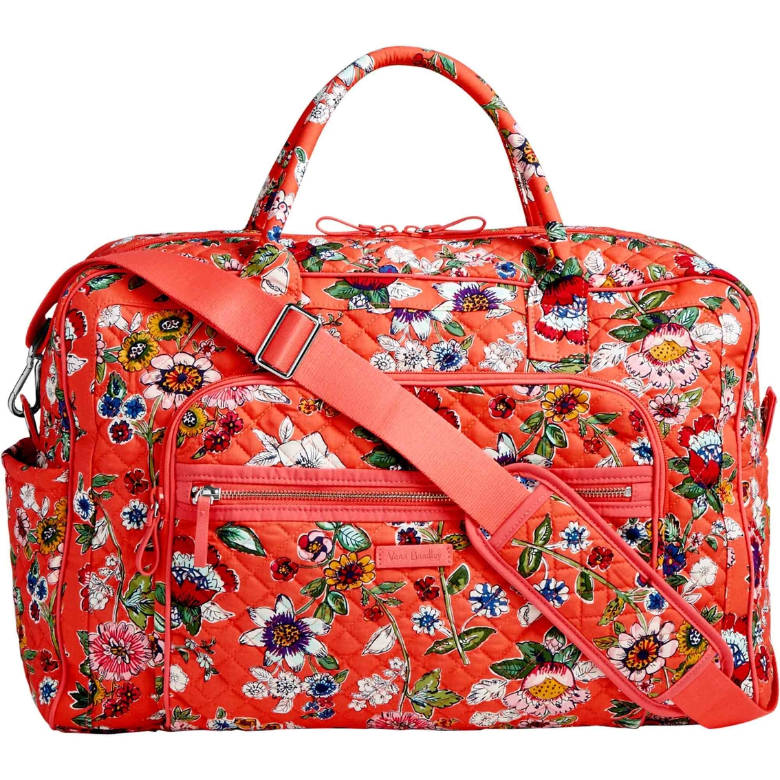 Vera Bradley Iconic Weekender Travel Bag (Coral Floral) Weekender/Overnight Luggage 6MkKU