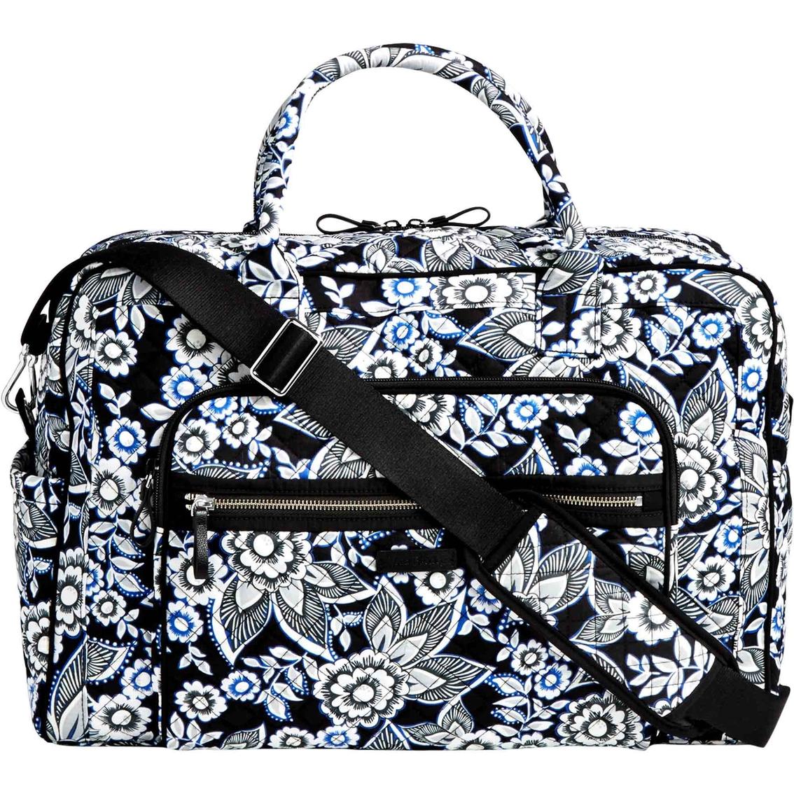 Vera Bradley Iconic Weekender Travel Bag Snow Lotus  d1ab5ed4033ae