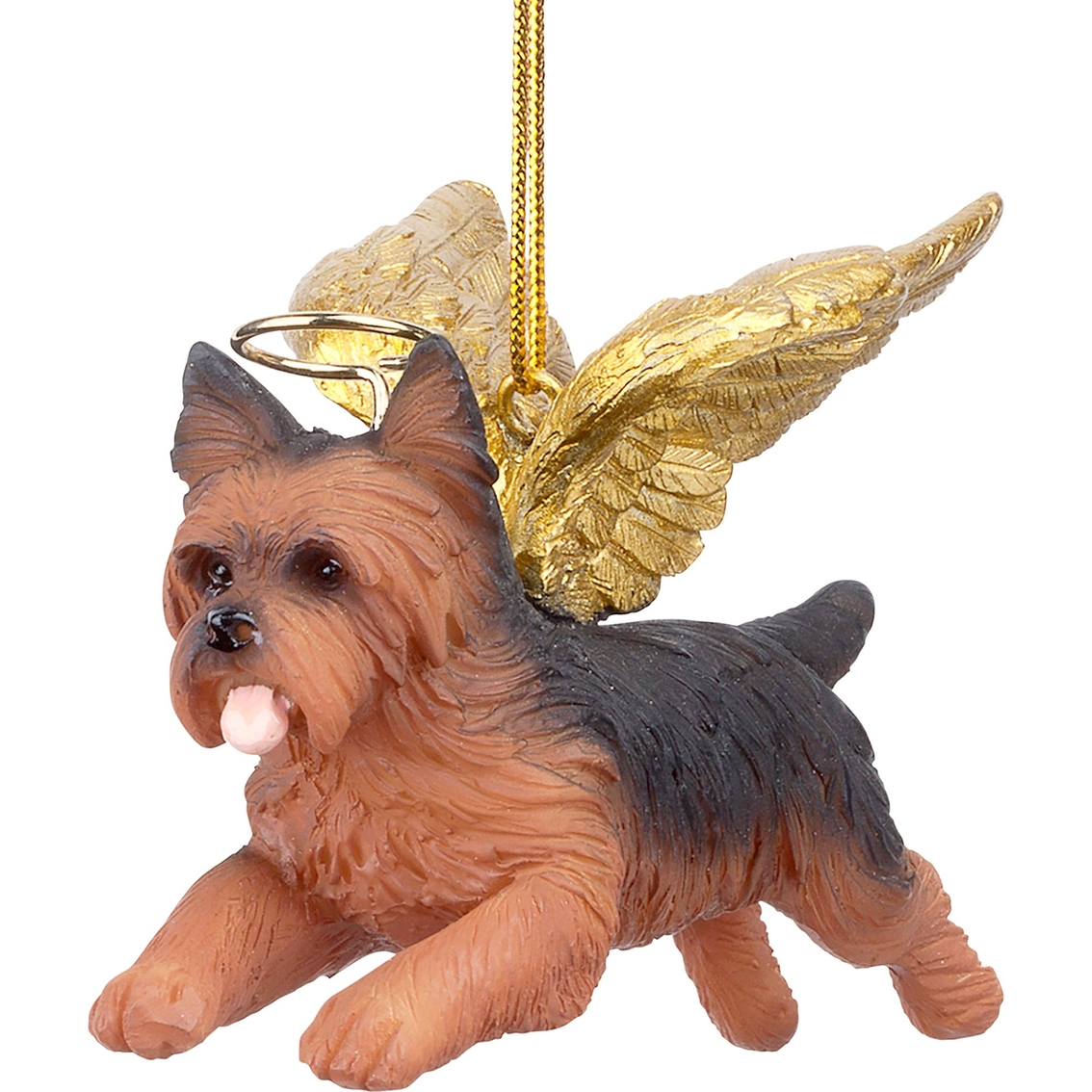 Design Toscano Honor The Pooch Yorkie Holiday Dog Angel Ornament ...
