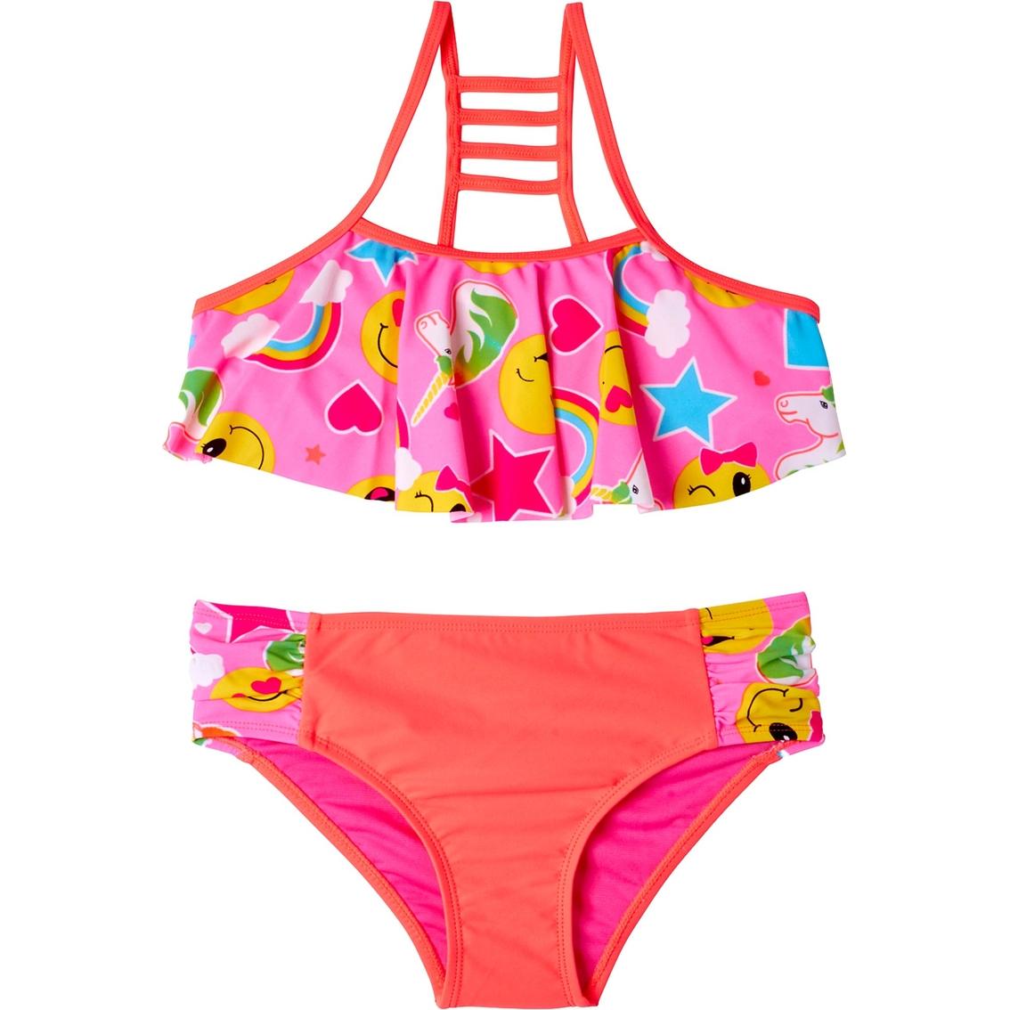 779aadd001 Limited Too Girls Emoji 2 Pc. Bikini Swimsuit