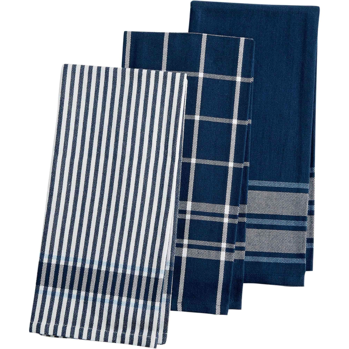 Martha Stewart Collection 3 Pc. Jacquard Striped Cotton ...