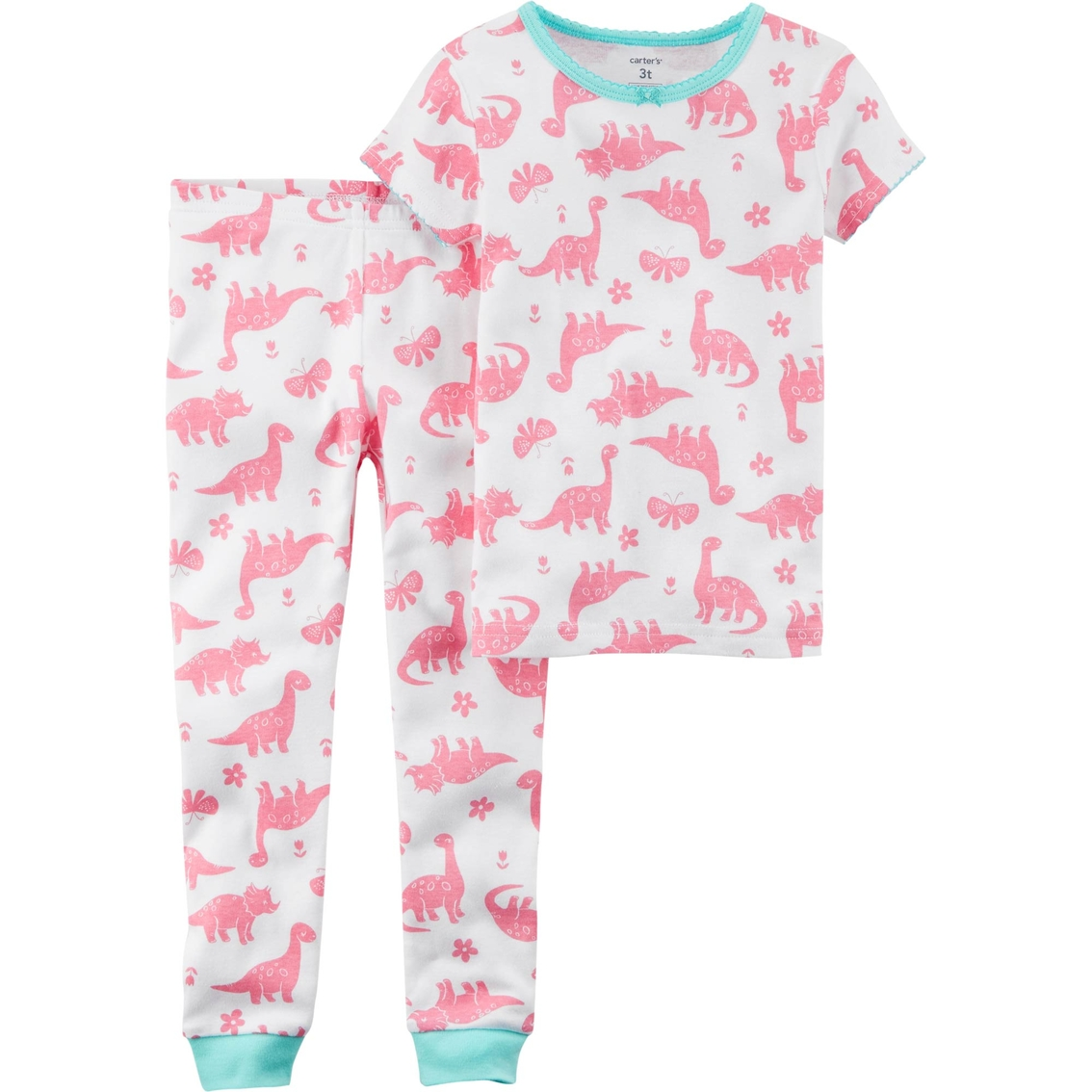15ebaab64c Carter s Toddler Girls 2 Pc. Dinosaur Snug Fit Cotton Pajama Set ...
