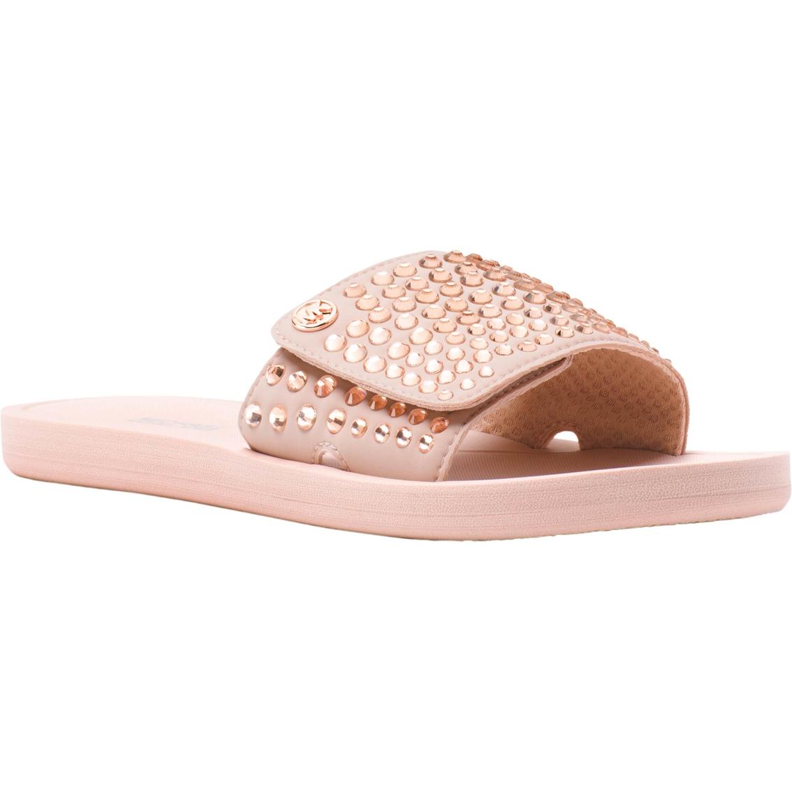 f729217b2950 Michael Kors Women s Slide Fix Stone Upper Slip On Sandals