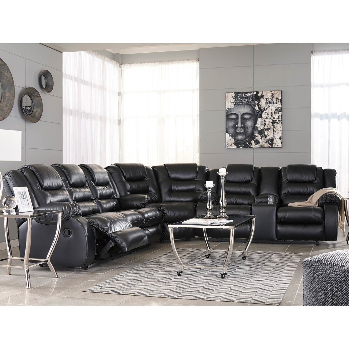 Miraculous Ashley Vacherie Reclining Sectional Sofas Couches Home Gmtry Best Dining Table And Chair Ideas Images Gmtryco