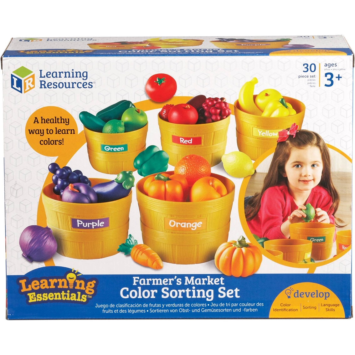 Learning Resources Farmer S Market Color Sorting Set Pretend Play Baby Toys Shop The Exchange