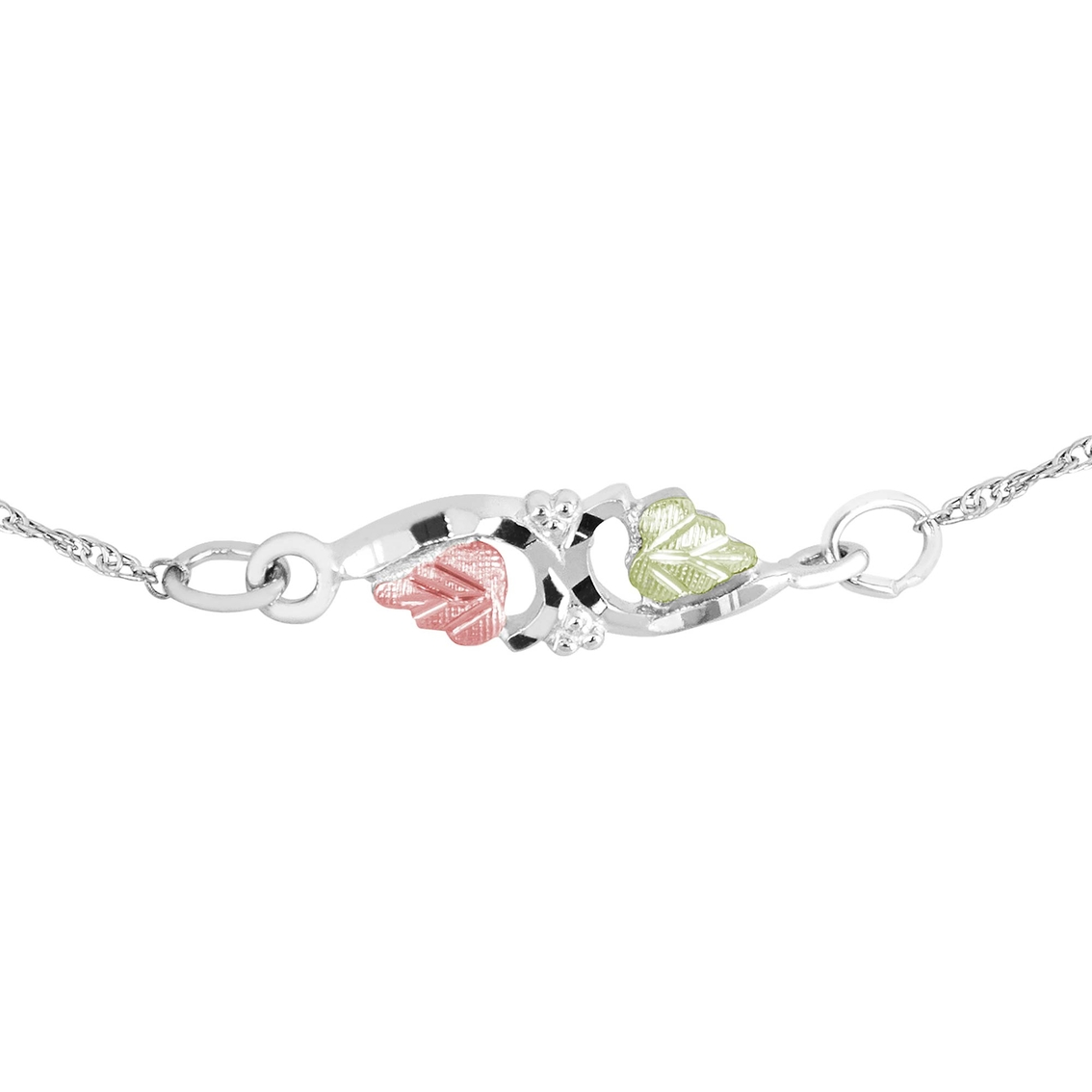 DiamondJewelryNY Double Loop Bangle Bracelet with a Chalice Charm.