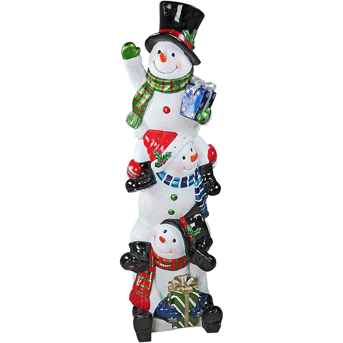 Christmas Statue Decorations: Design Toscano Snowbro Illuminated Snowman Holiday Statue