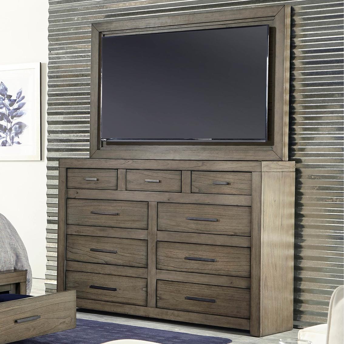 Aspenhome Modern Loft Chesser And Tv Frame
