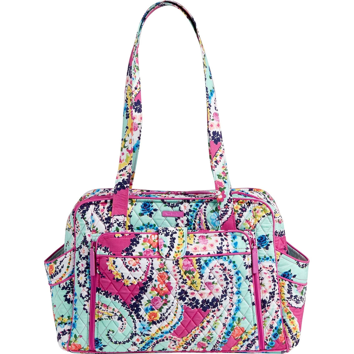 Vera Bradley Signature Stroll Around Baby Bag Wildflower Paisley