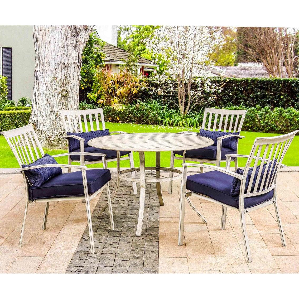 Courtyard Creations Bel Air Cushion Stationary 5 Pc. Dining Set