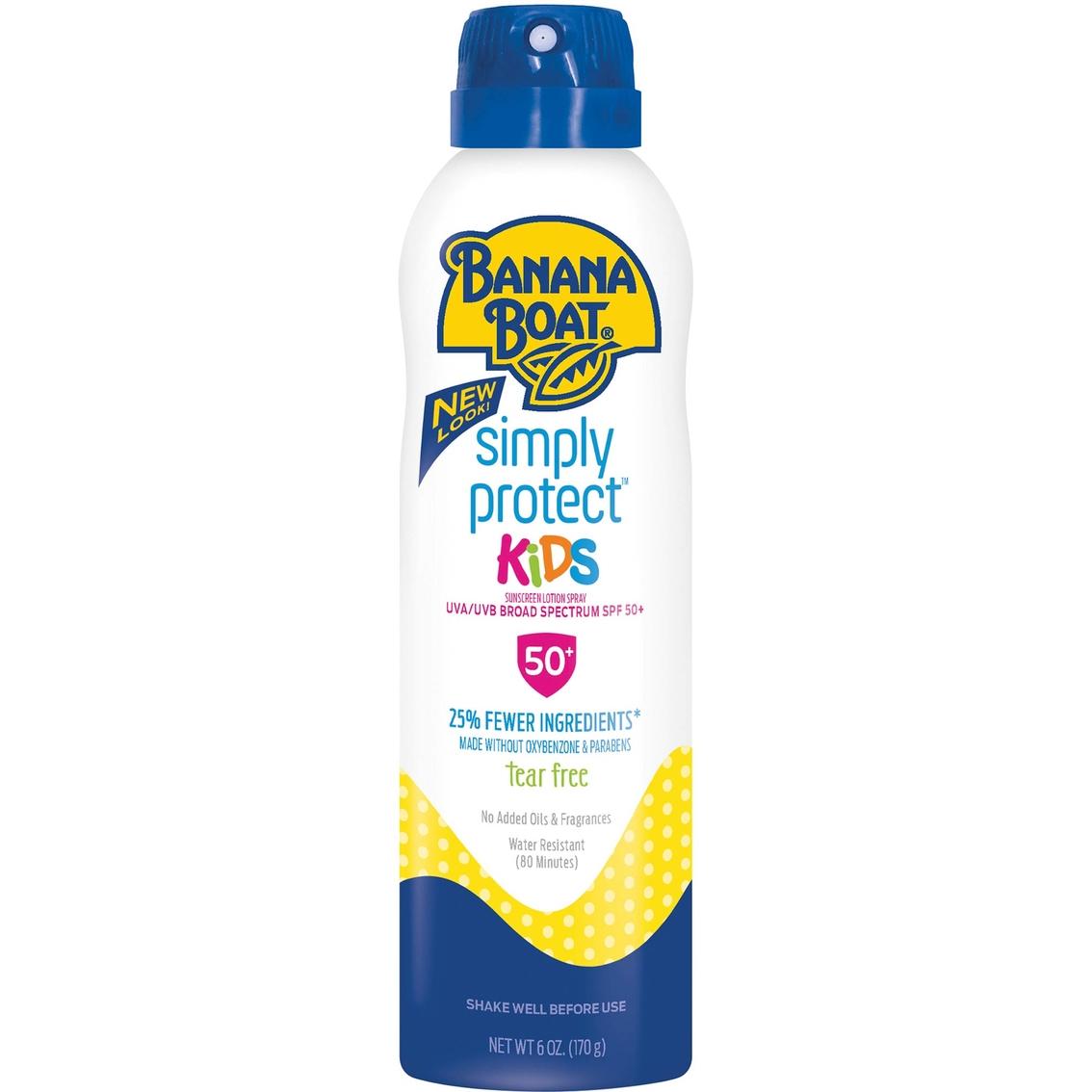 Banana Boat Simply Protect Kids Spf 50 Sunscreen C Spray