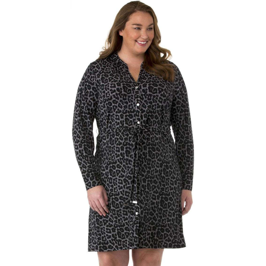 Michael Kors Plus Size Button Front Shirt Dress | Dresses | Apparel ...