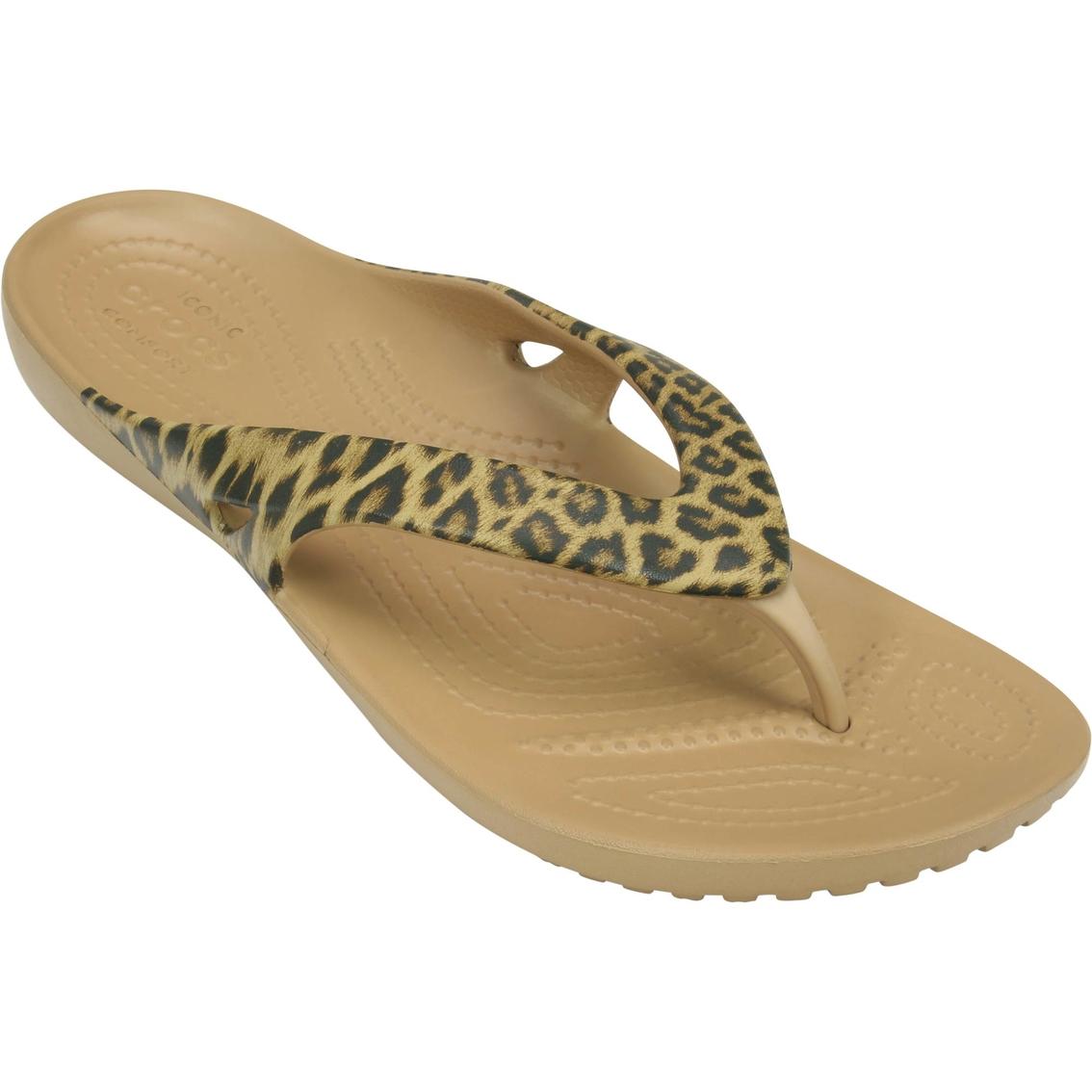 b02736698cbb Crocs Kadee Ii Leopard Print Flip Flops