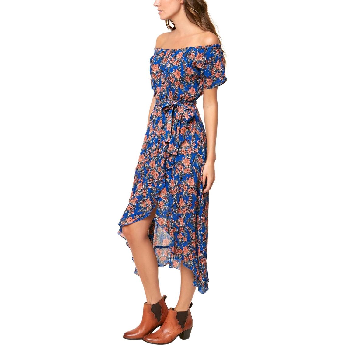 a7bf465abc6 O neill Juniors Constance Off The Shoulder Floral Wrap Maxi Dress ...