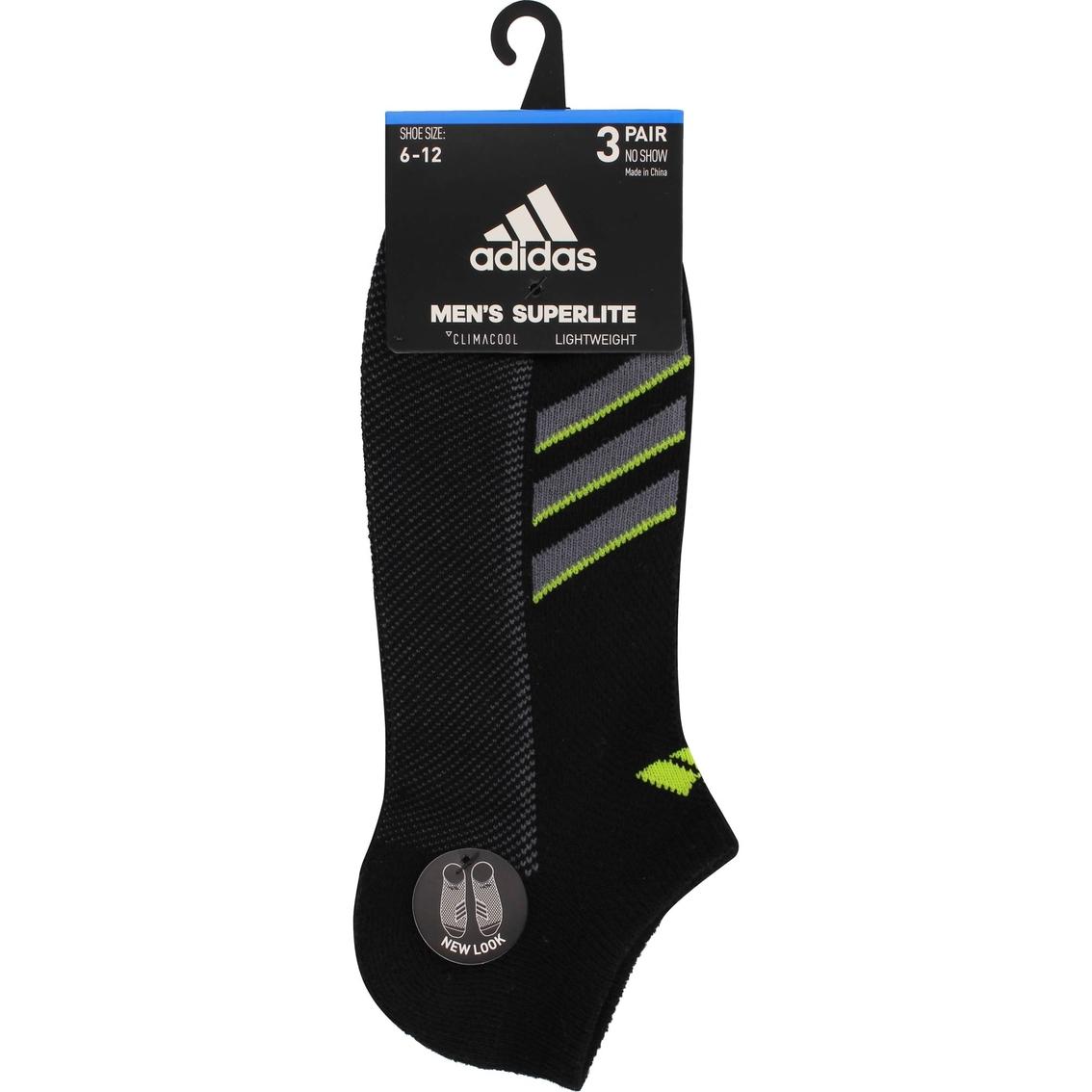 4bc930b0c2a51 Adidas Men's Climacool Superlite Stripe No Show Socks 3 Pk. | Socks ...