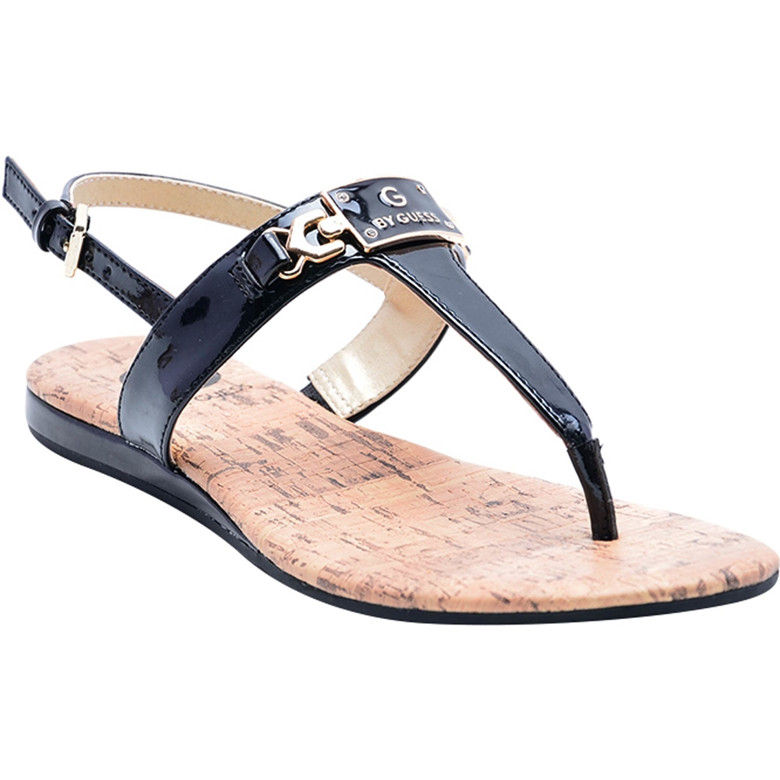 08a748c36db G By Guess Jemma Ornament Sling Back Thong Sandals