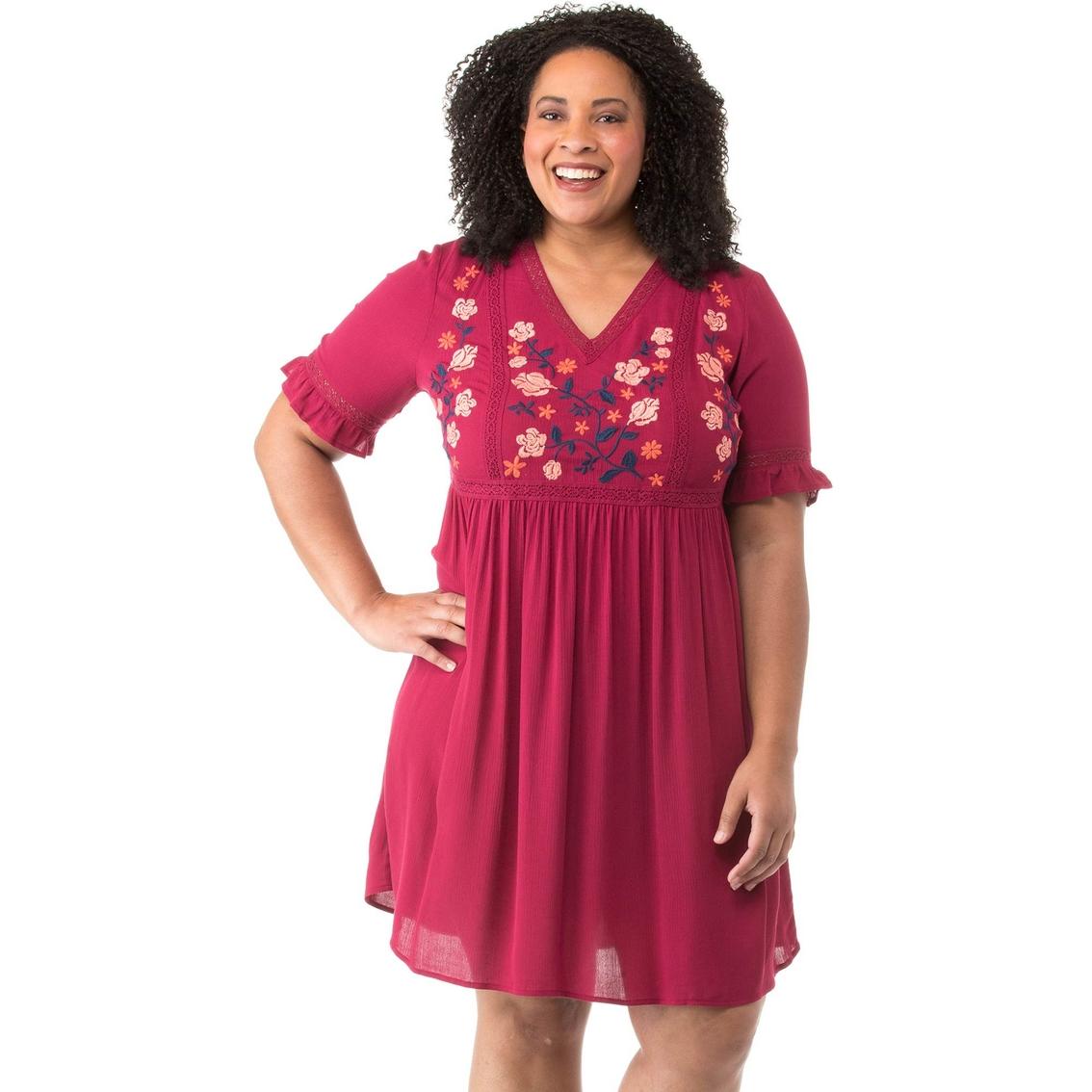 Cherokee Plus Size Woven Peasant Dress | Dresses | Apparel ...