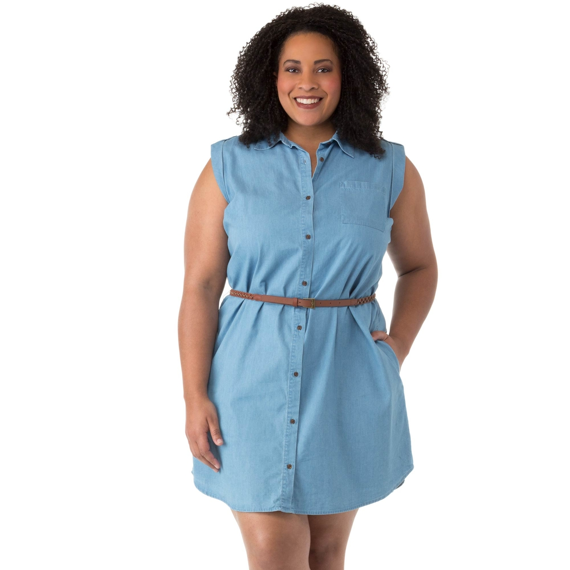 Cherokee Plus Size Belted Shirt Dress | Dresses | Apparel ...