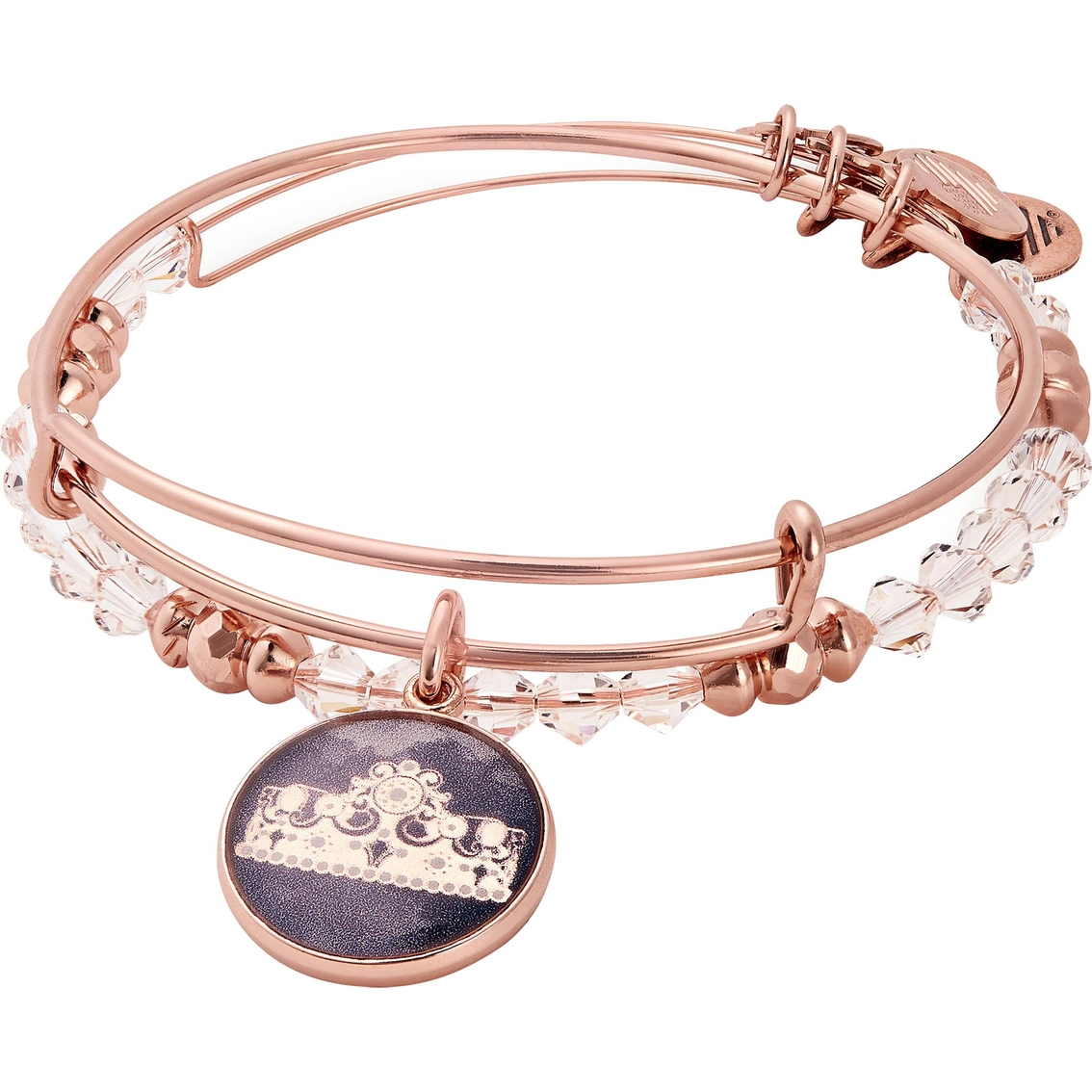 Alex And Ani Art Infusion Queen S Crown 2 Pc Charm Bangle
