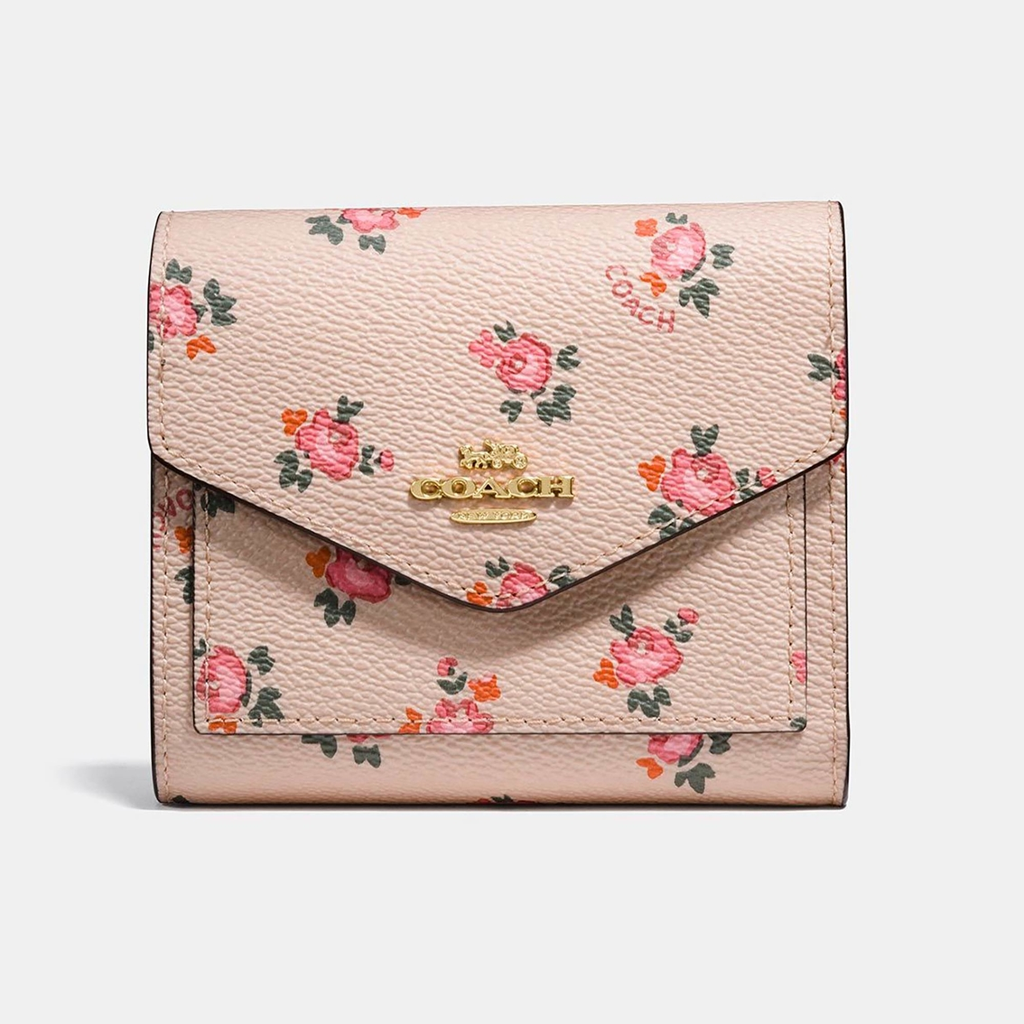 Coach small wallet with floral bloom print wallets handbags coach small wallet with floral bloom print mightylinksfo