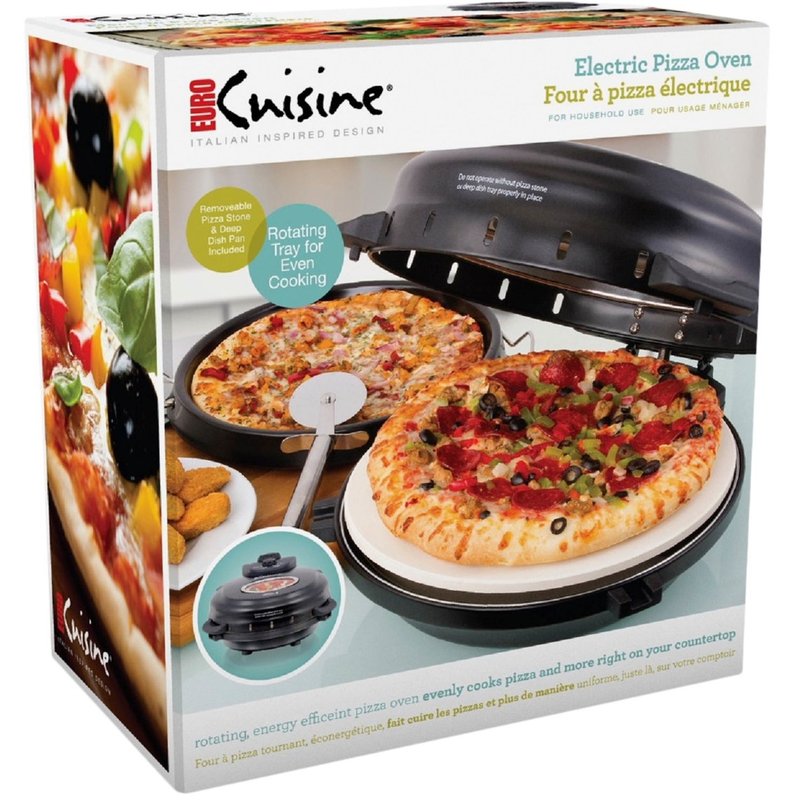 Captivating Euro Cuisine Electric Pizza Oven