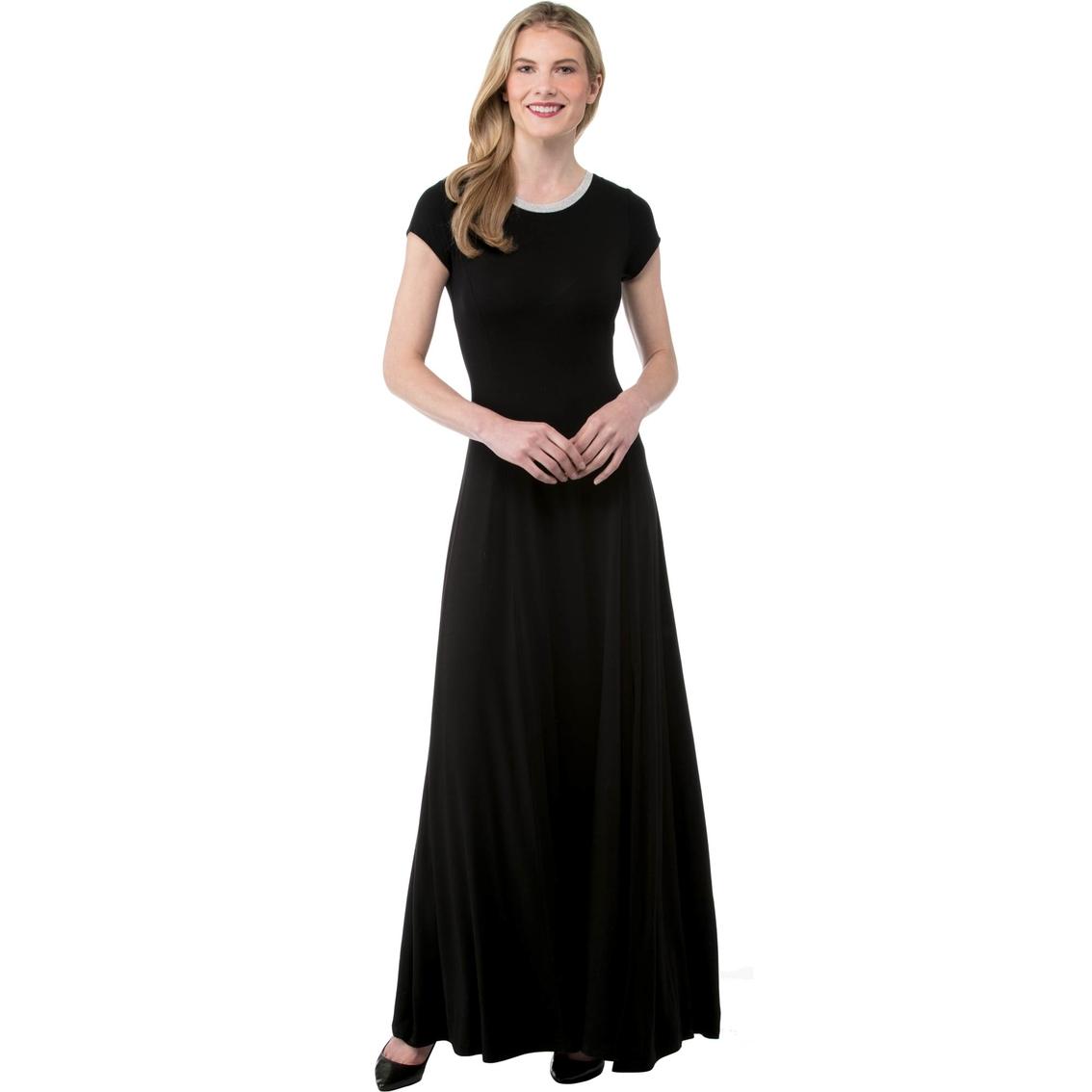 7fa7f971ac0 Michael Kors Petite Cap Sleeve Slit Maxi Dress