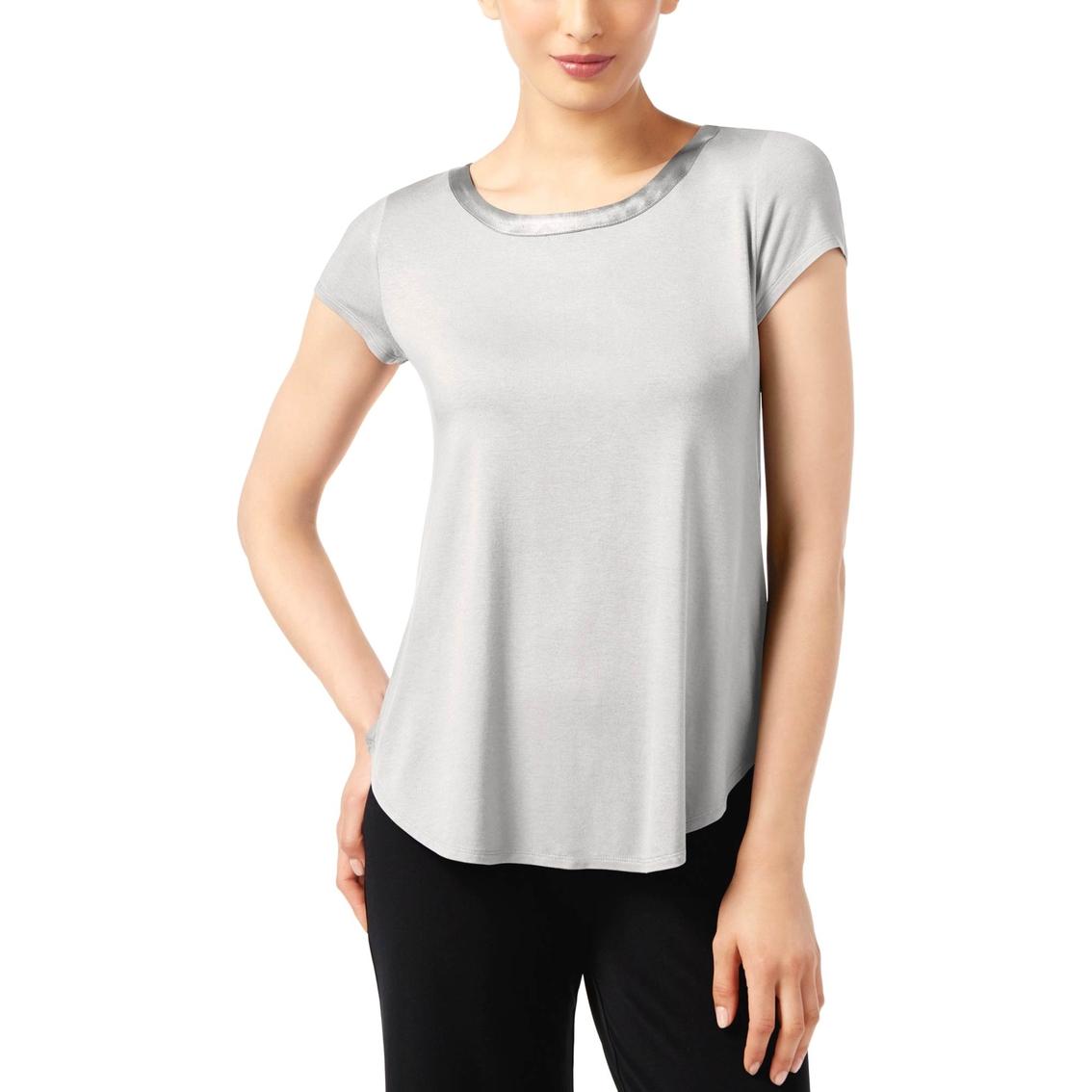 57a274ab Alfani Petite Satin Trim High Low Tee | T-shirts | Apparel | Shop ...