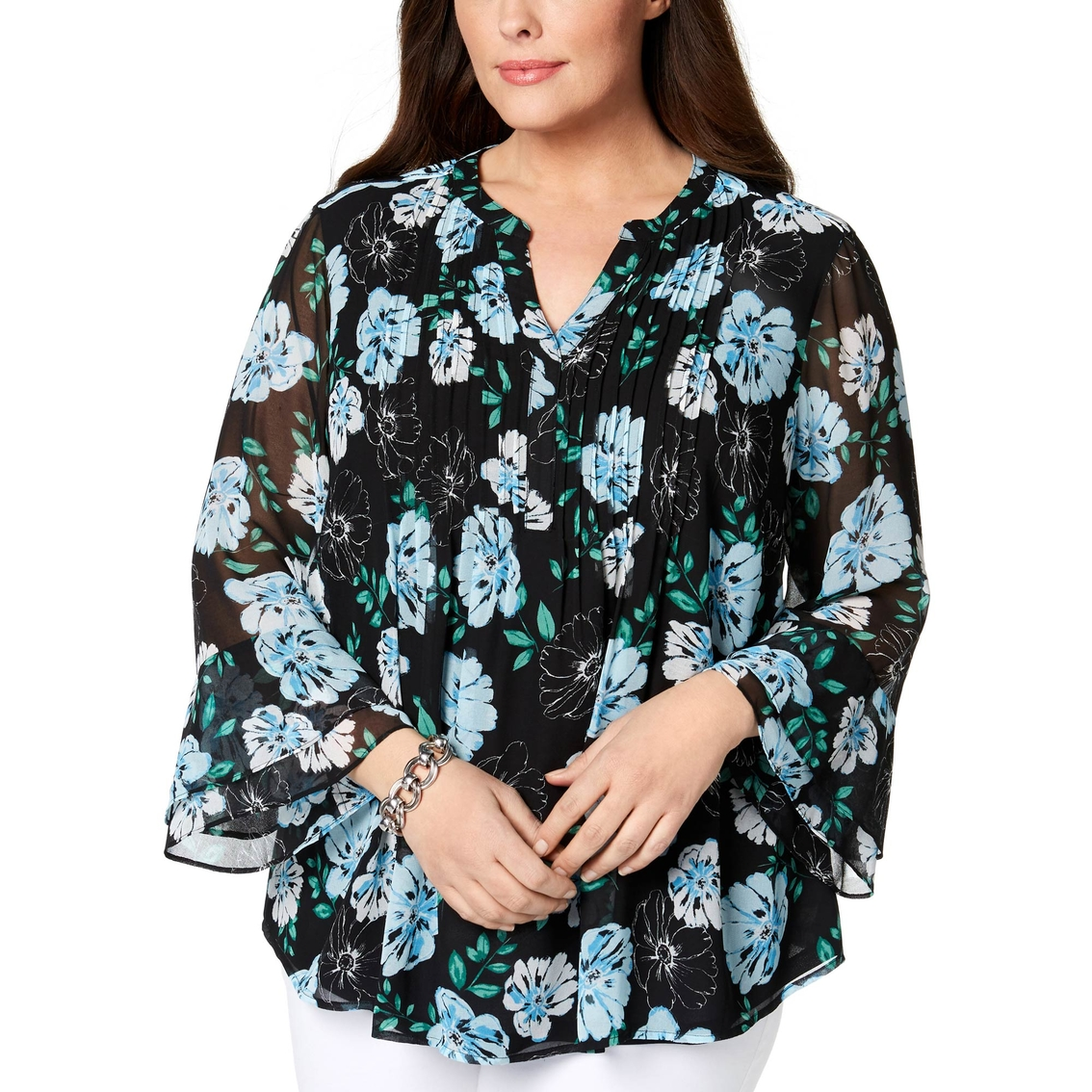 829d8a73aedb1 Plus Size Bell Sleeve Blouses - Joe Maloy