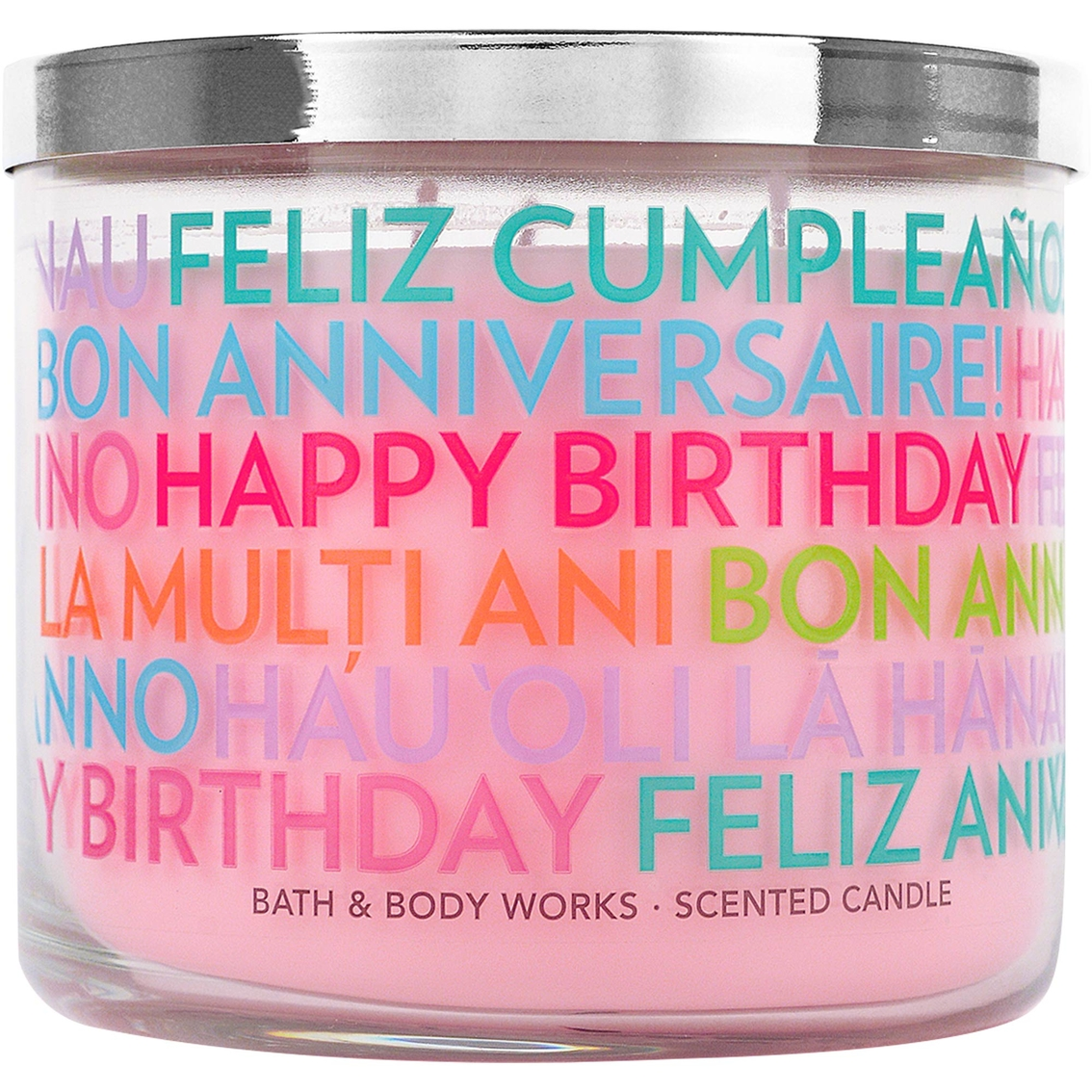 Bath Body Works Happy Birthday Midnight Blue Citrus 3 Wick Candle