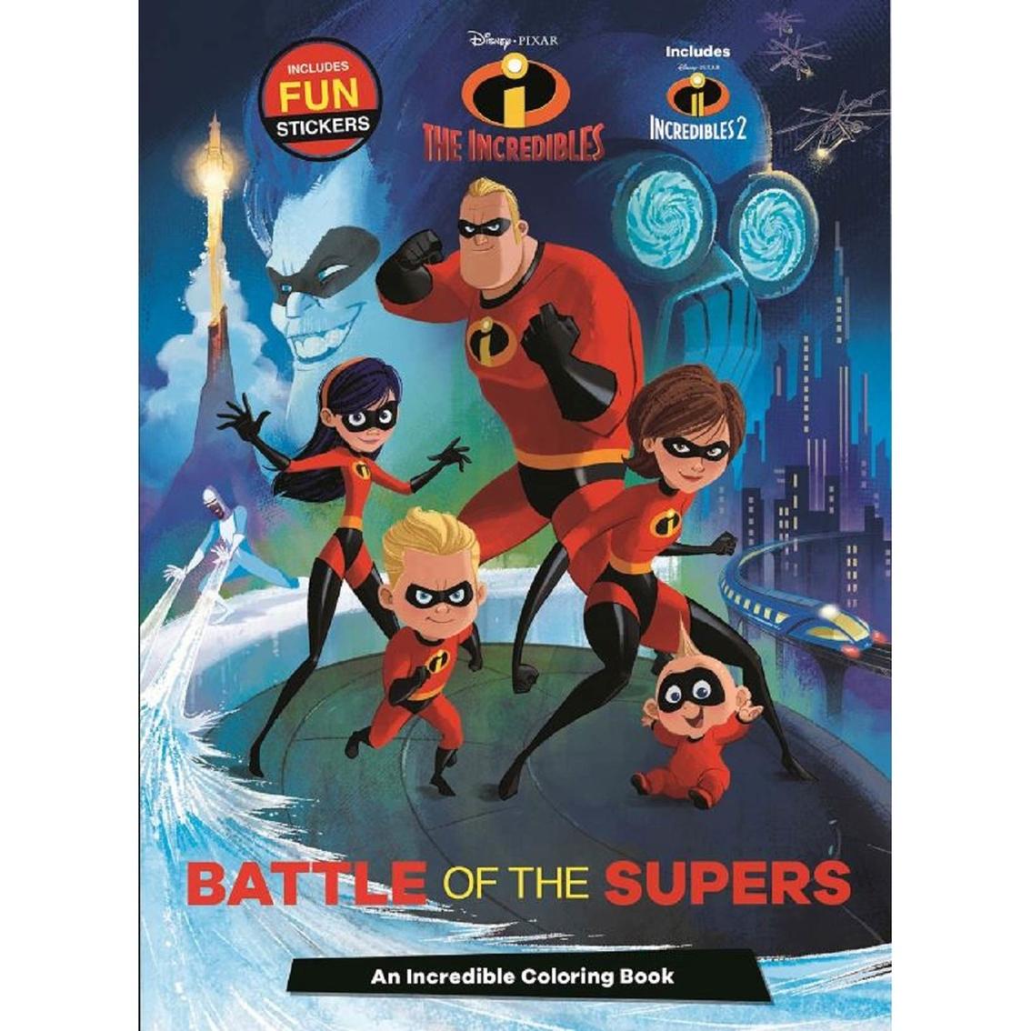 Disney Pixar Incredibles Battle Of The Supers Coloring Book ... d5d15d1ad8de0