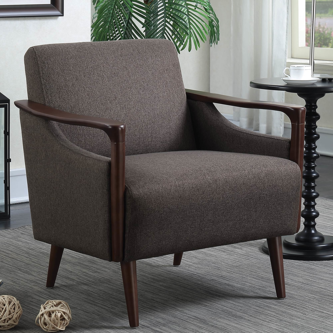 Mid Century Accent Chairs: Scott Living Mid Century Modern Accent Chair