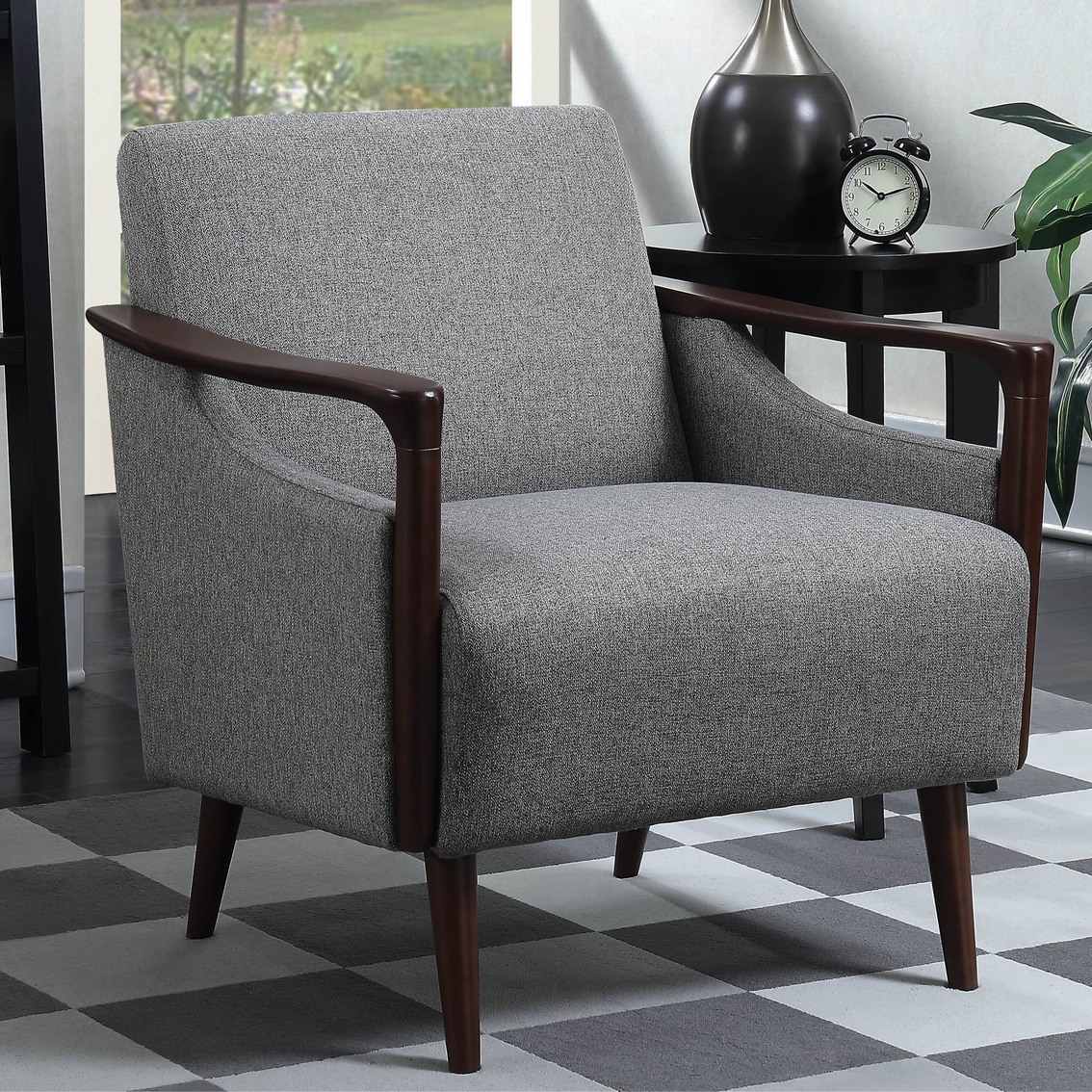 Enjoyable Scott Living Mid Century Modern Accent Chair Chairs Andrewgaddart Wooden Chair Designs For Living Room Andrewgaddartcom