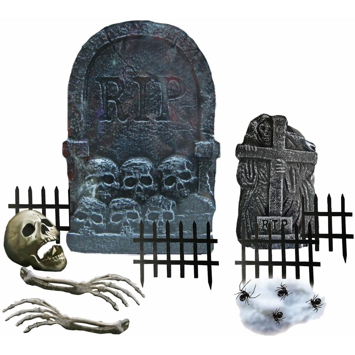 Ice Design Factory Halloween Cemetery Decor 14 Pc Kit