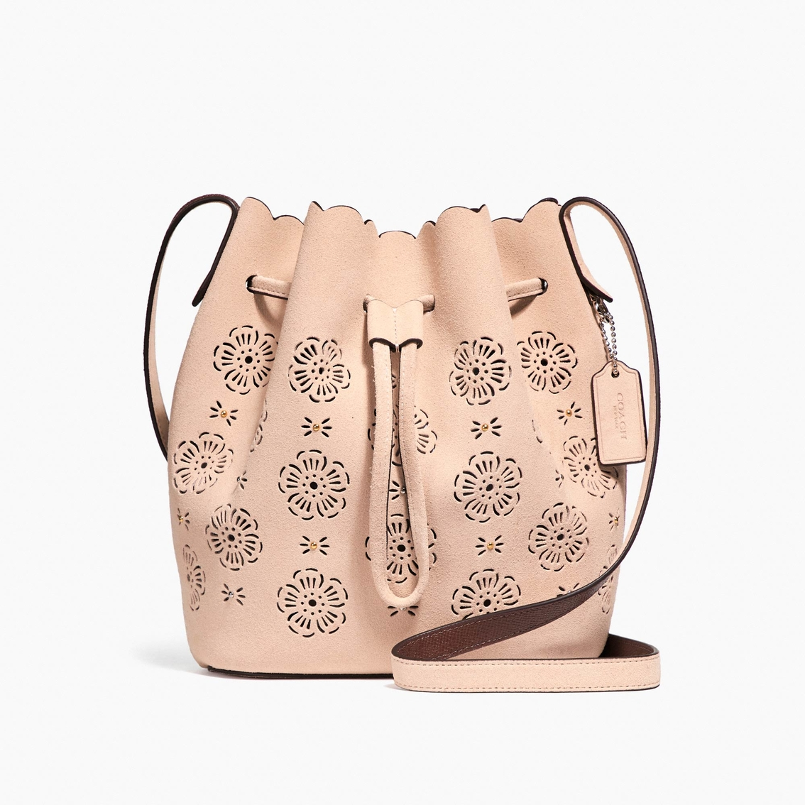 Coach Bucket Bag 18 With Cut Out Tea Rose