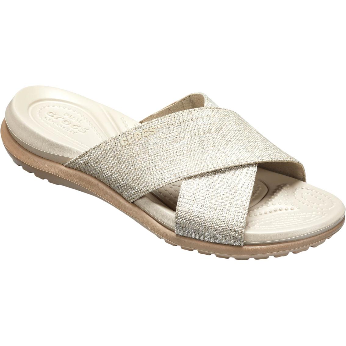 b3571fb33950 Crocs Capri Shimmer X Band Sandals