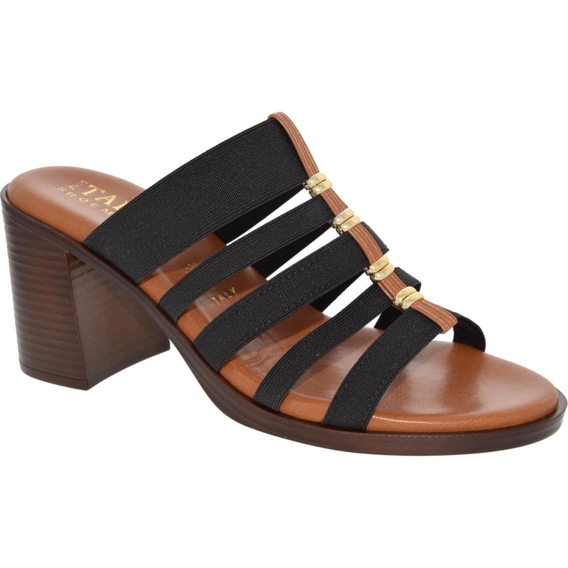 cbd4df92690d ... italian shoemakers reign mid heel strappy stretch sandals low heel  italian  shoemakers wedge ...