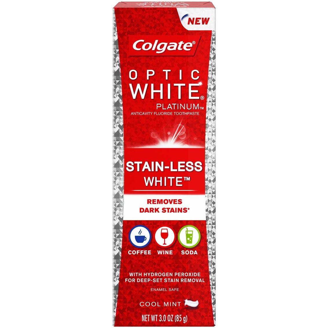 Colgate Optic White Platinum Stain Less White Toothpaste Tooth