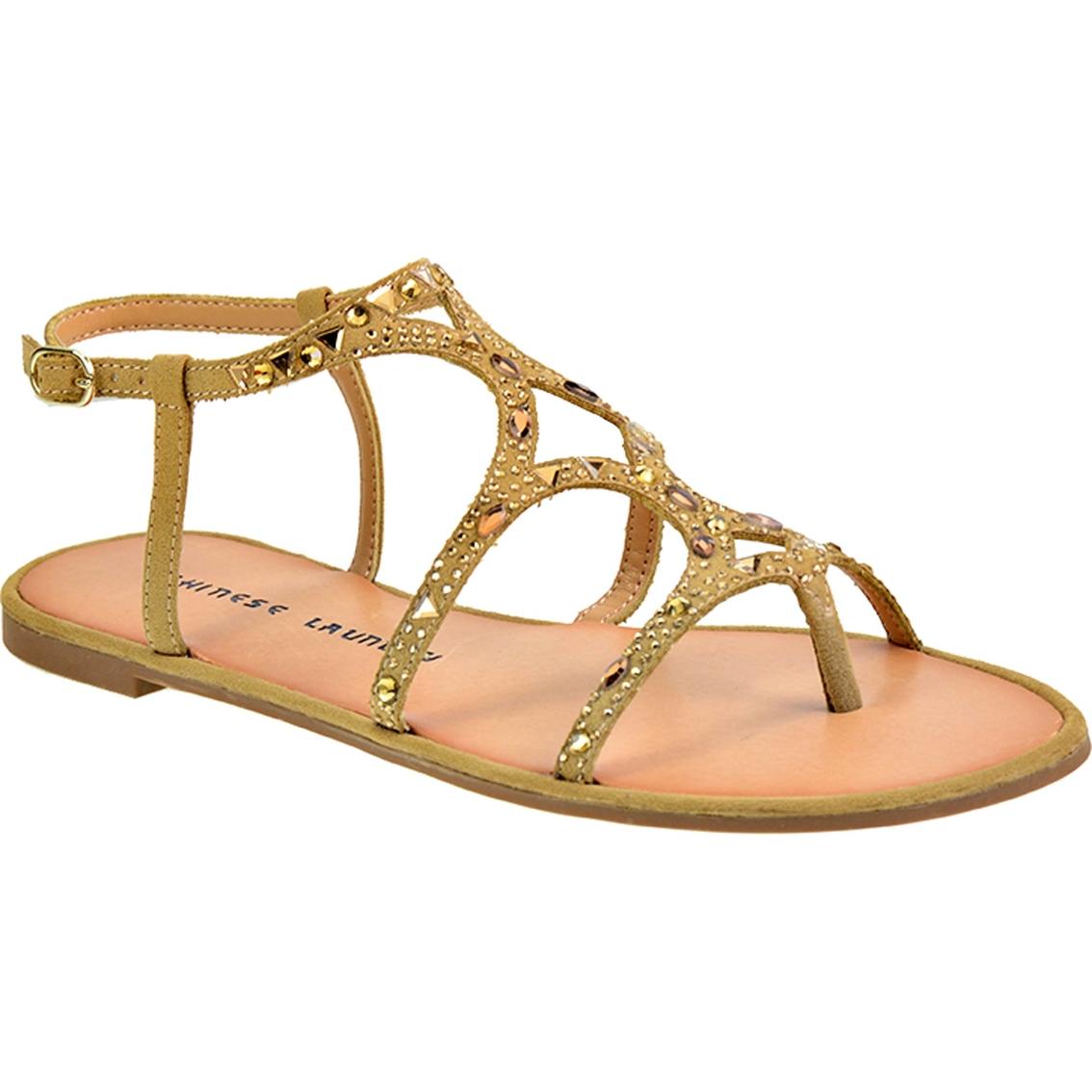 1d6e0b3f0 Chinese Laundry Genevieve Rhinestone Flat Sandals